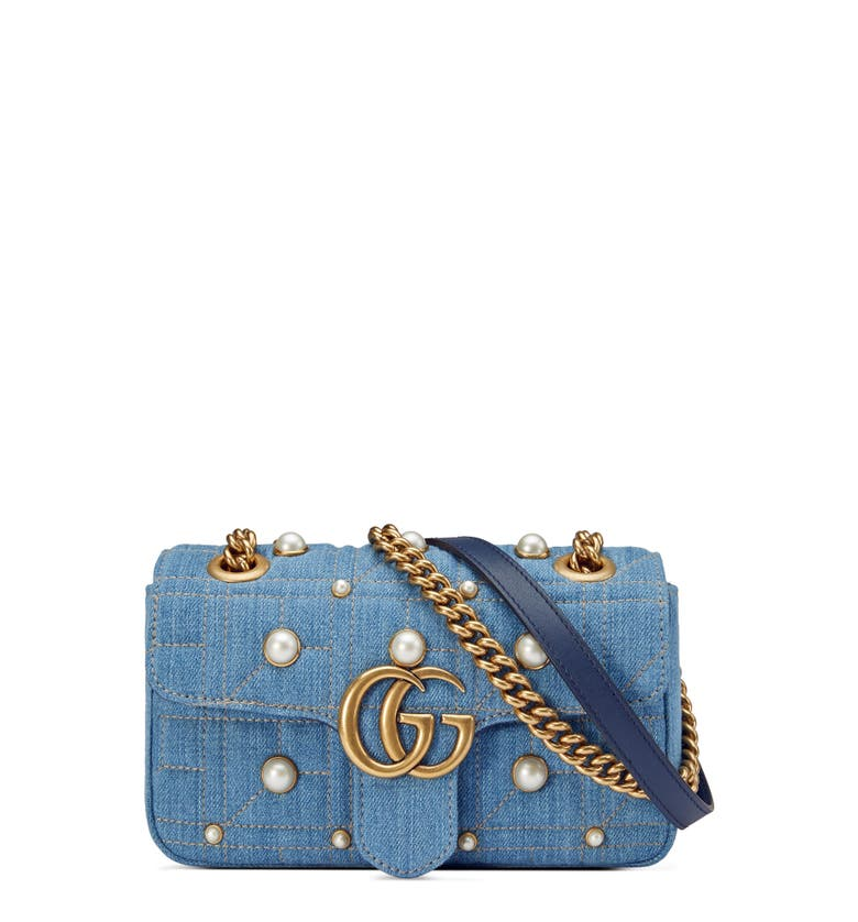 d4c668d4d23b Gucci Marmont Denim Pearl Bag | Stanford Center for Opportunity ...