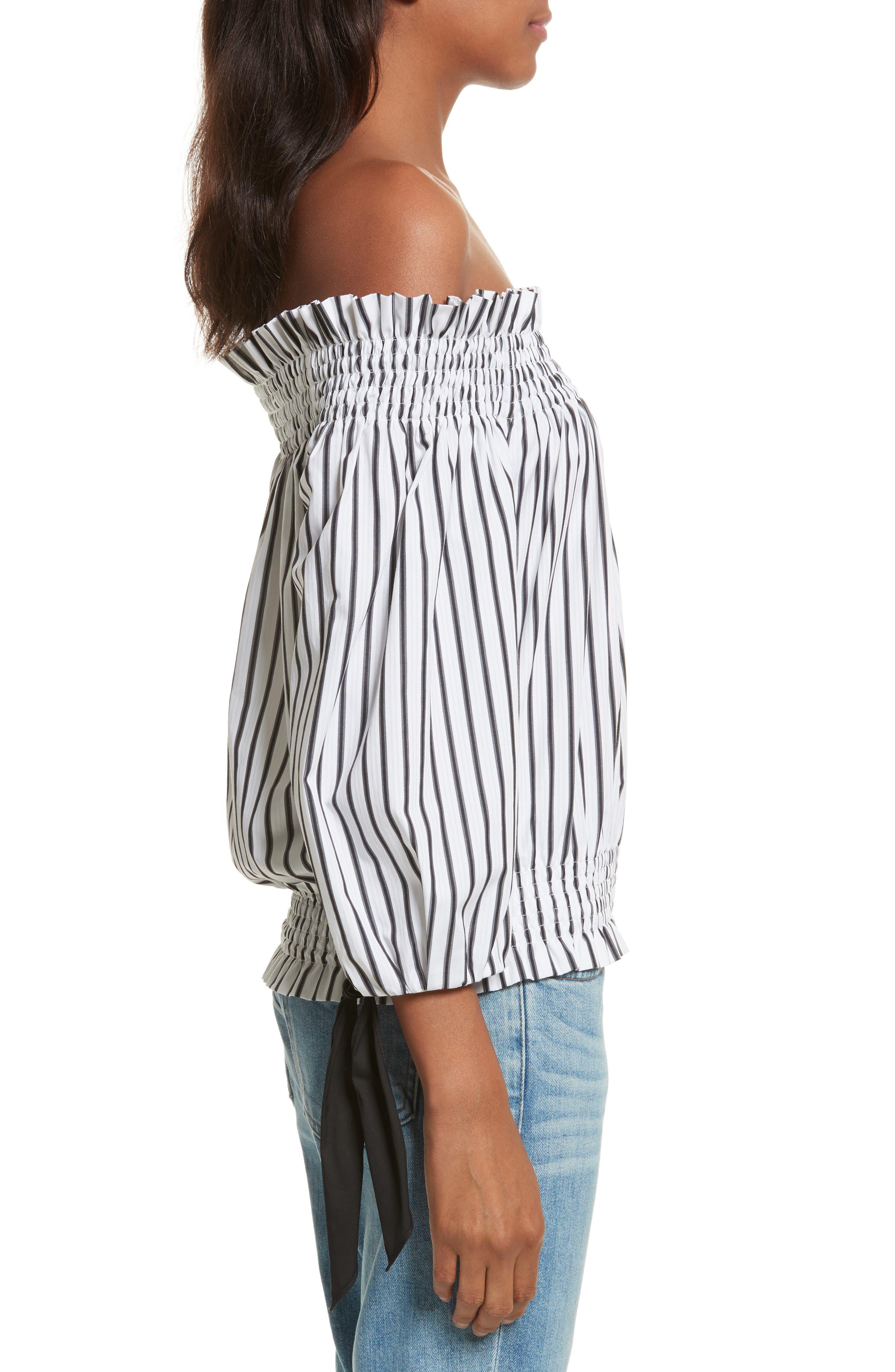 Alternate Image 3  - Caroline Constas Lou Off the Shoulder Crop Top