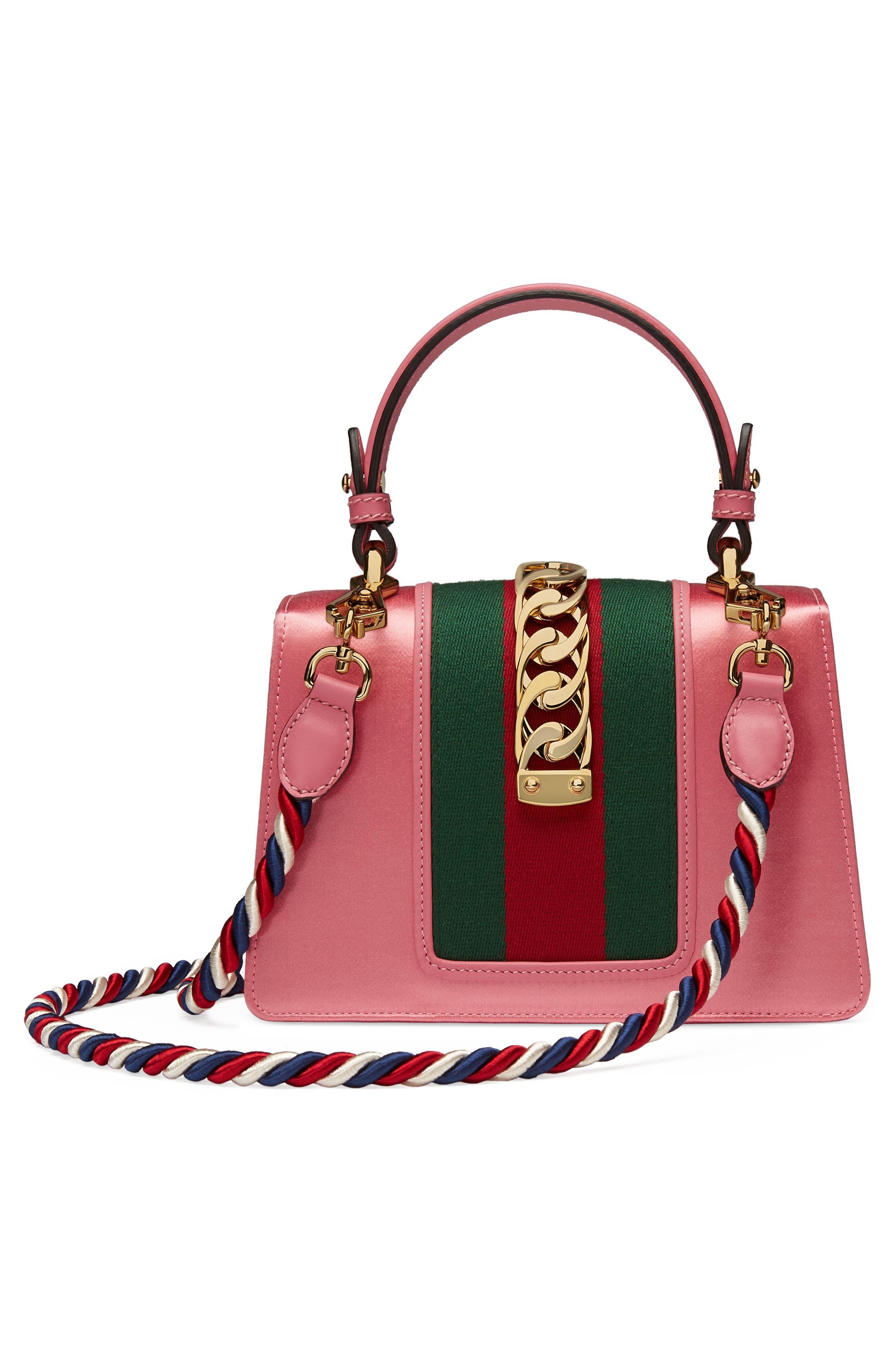 Mini Sylvie Crystal Burst Top Handle Leather Shoulder Bag,                             Alternate thumbnail 2, color,                             Peony/ Crystal/ Mystic White