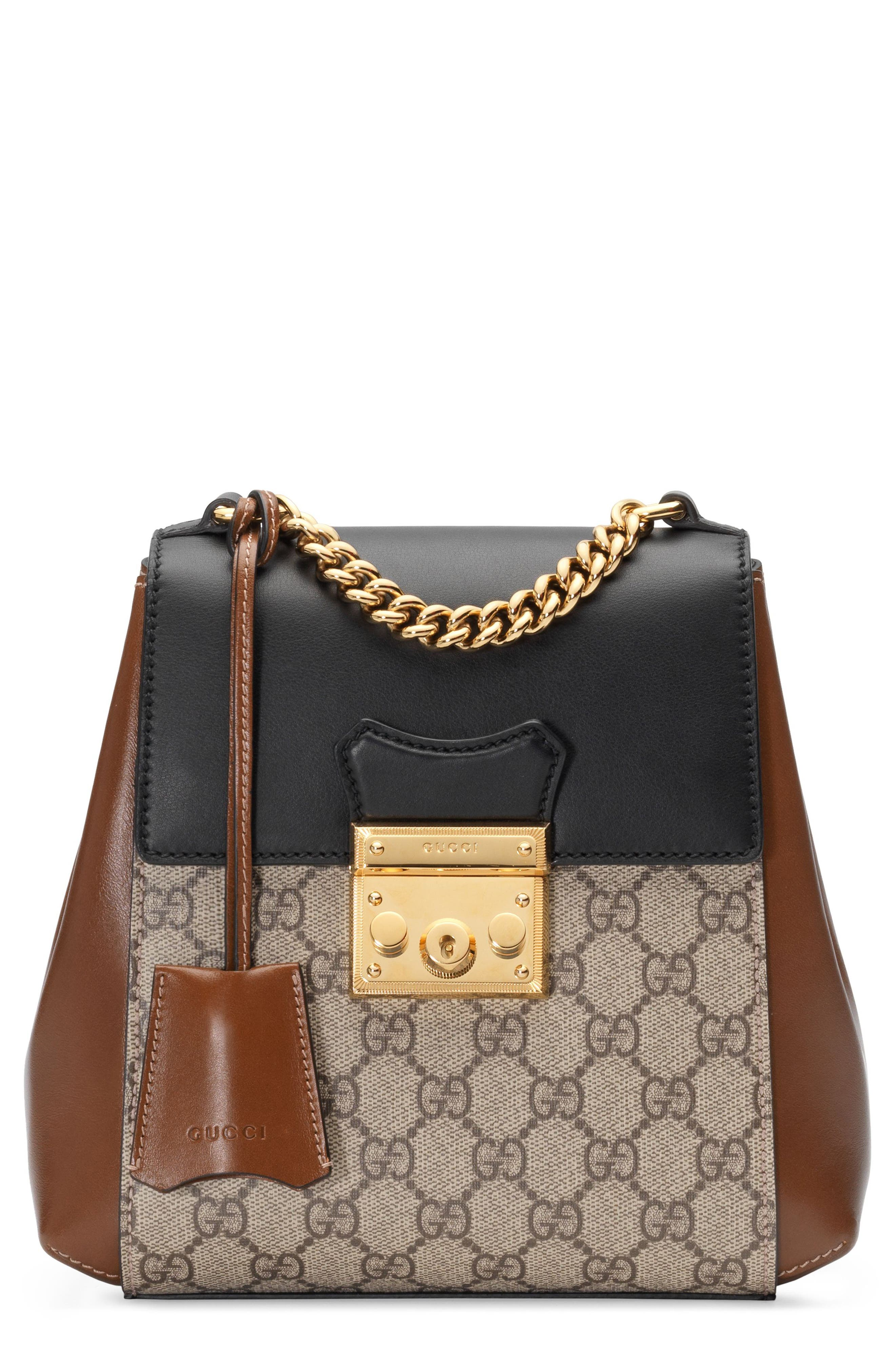 gucci bags at nordstrom. gucci gg supreme canvas \u0026 leather padlock backpack bags at nordstrom r