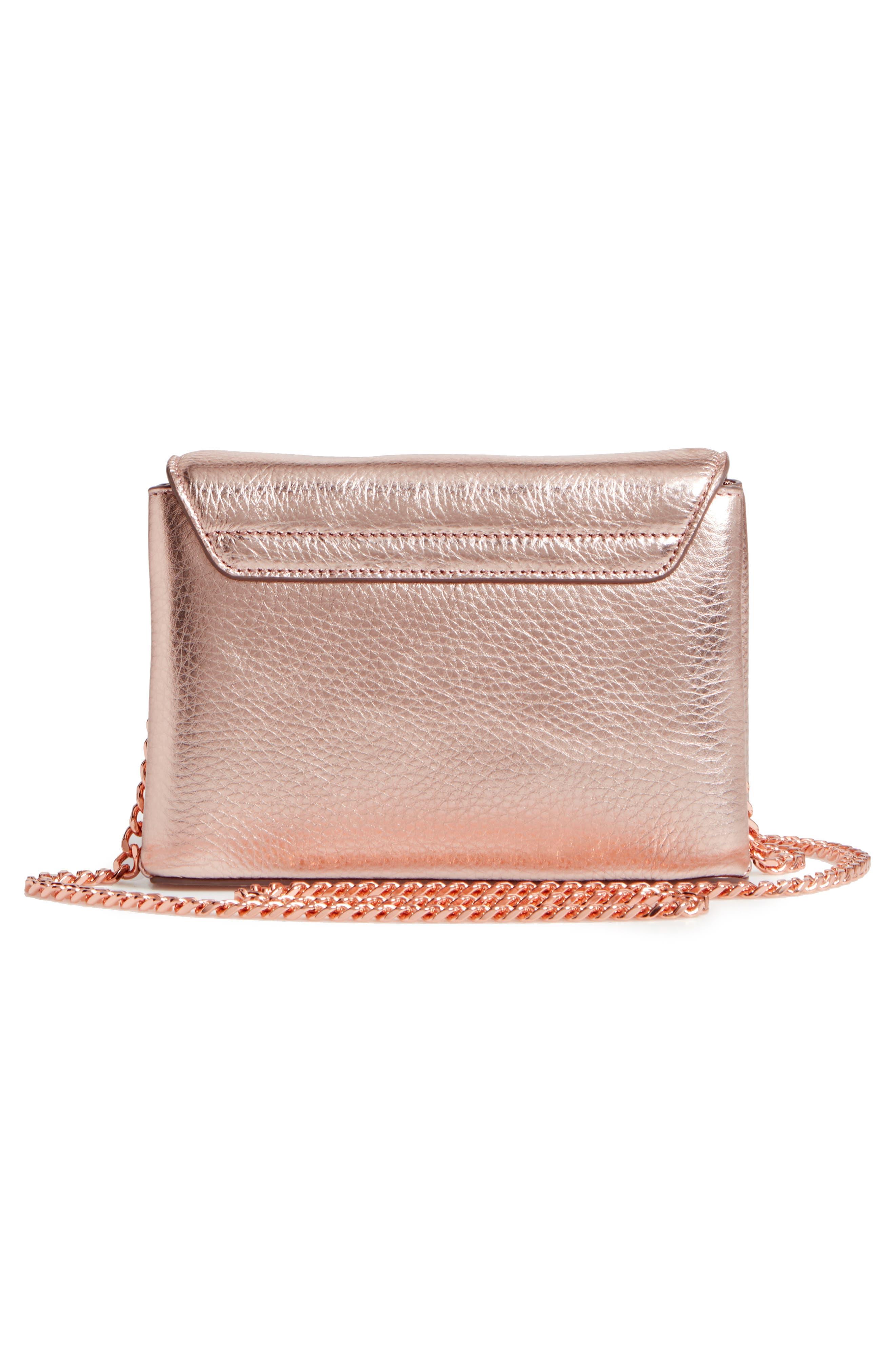 Alternate Image 3  - Ted Baker London Lupiin Metallic Leather Crossbody Bag