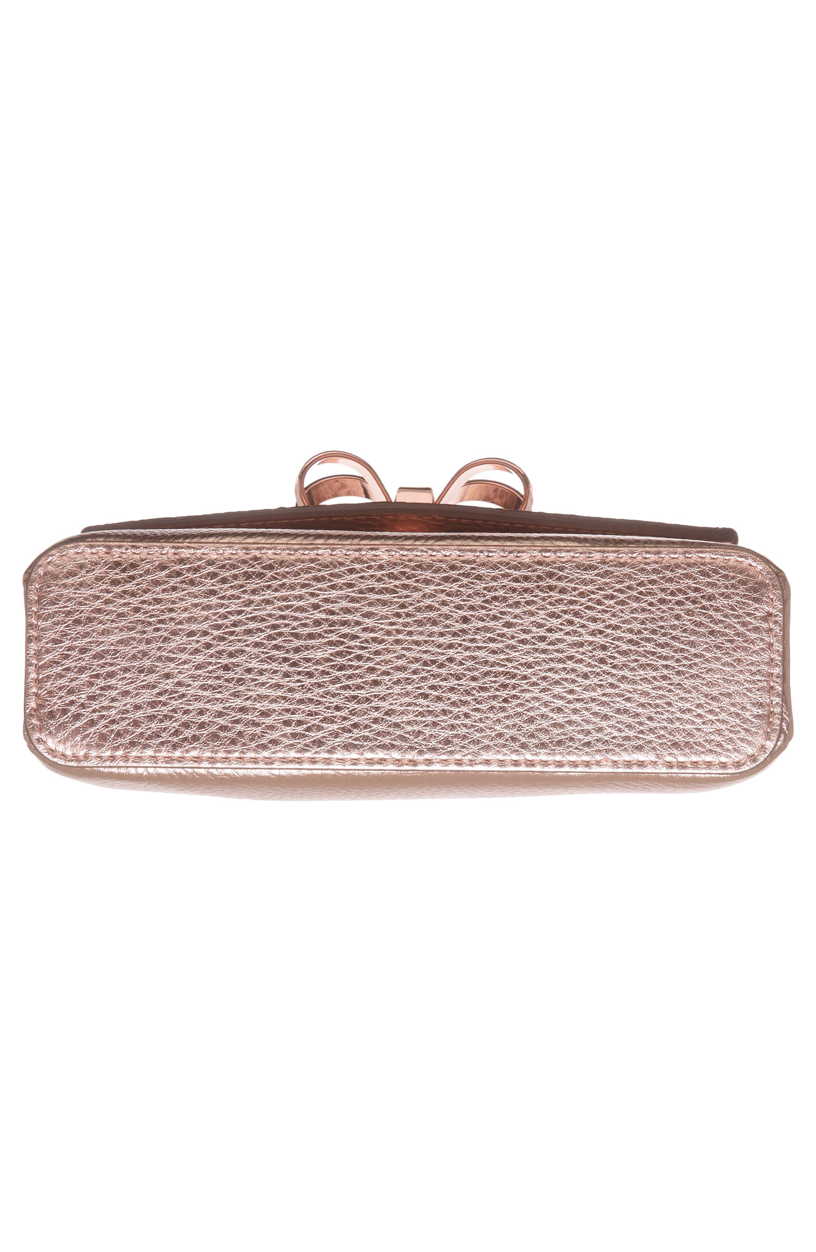 Alternate Image 5  - Ted Baker London Lupiin Metallic Leather Crossbody Bag