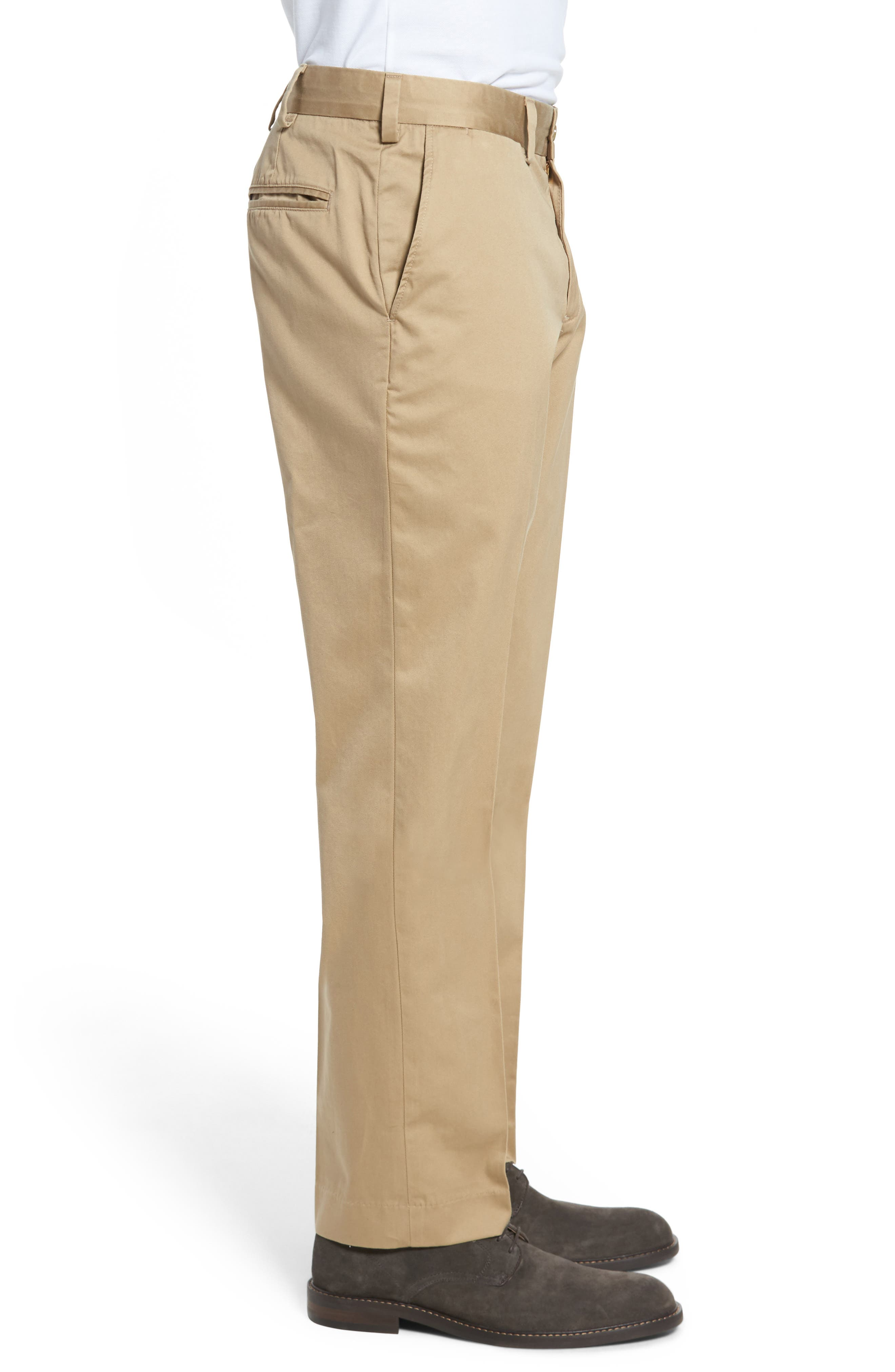 Straight Fit Chamois Cloth Pants,                             Alternate thumbnail 3, color,                             Camel