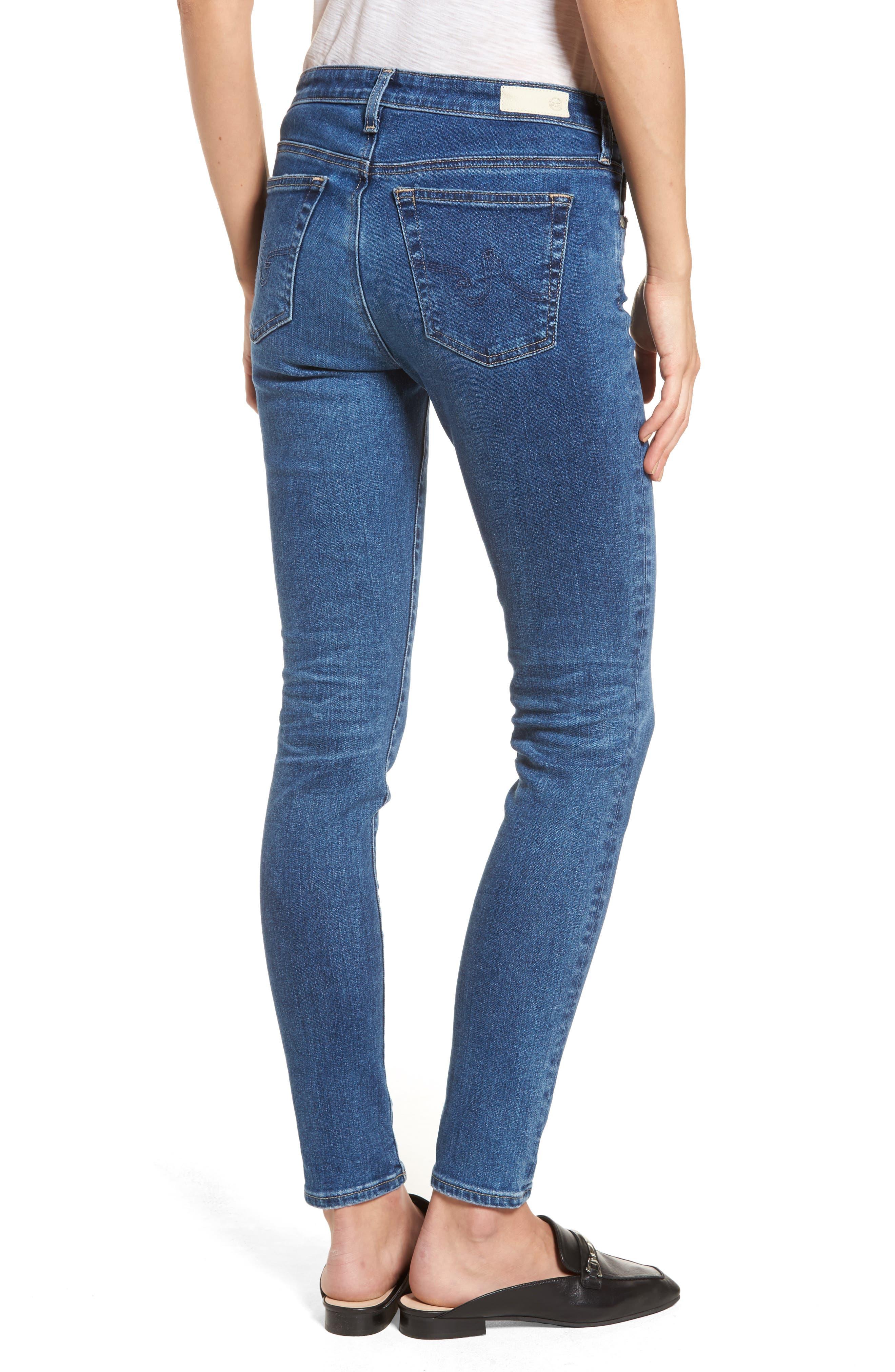 Alternate Image 2  - AG The Legging Ankle Super Skinny Jeans (17 Years Sea Drift)