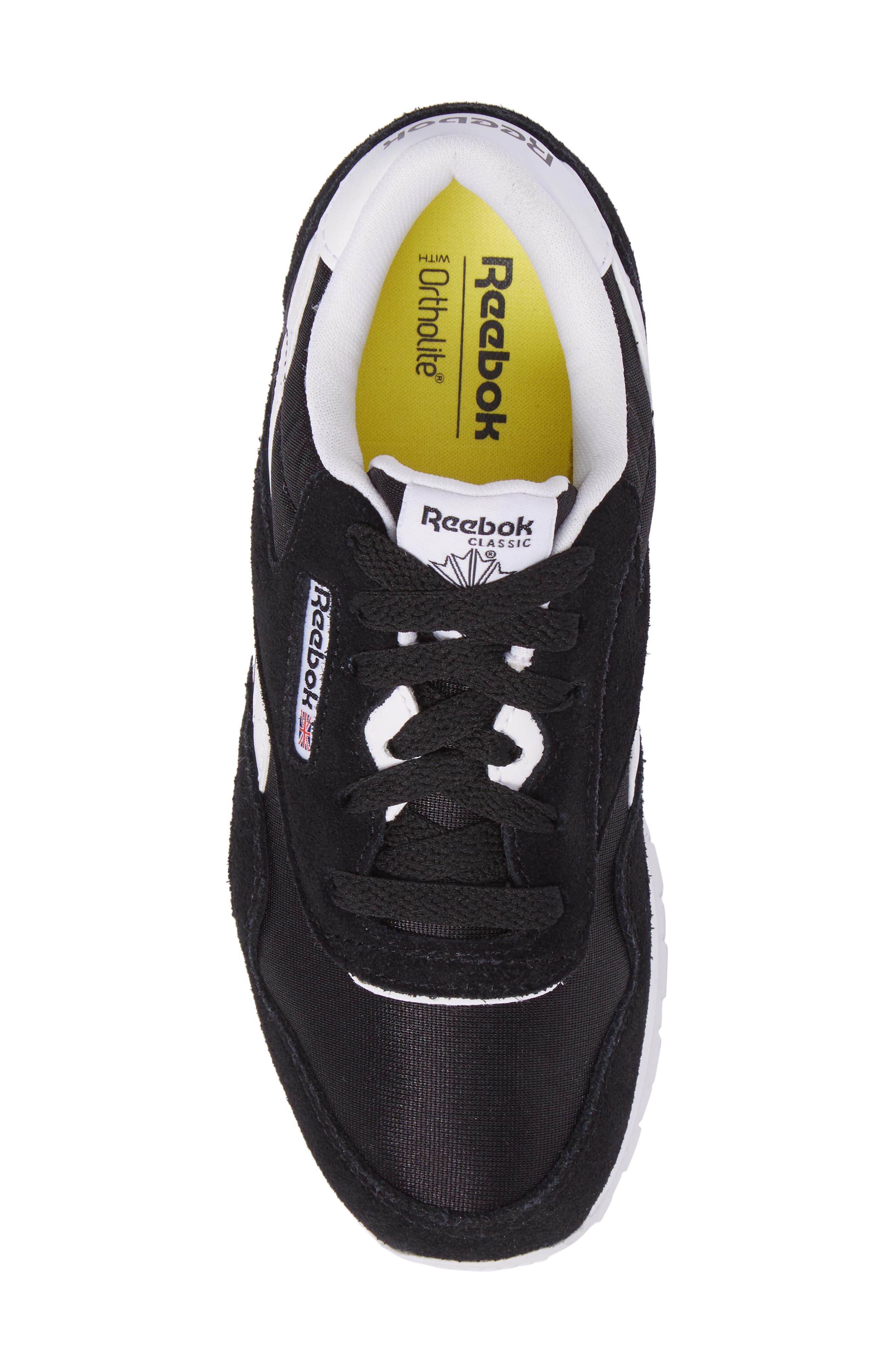 Classic Nylon Sneaker,                             Alternate thumbnail 5, color,                             Black/ White