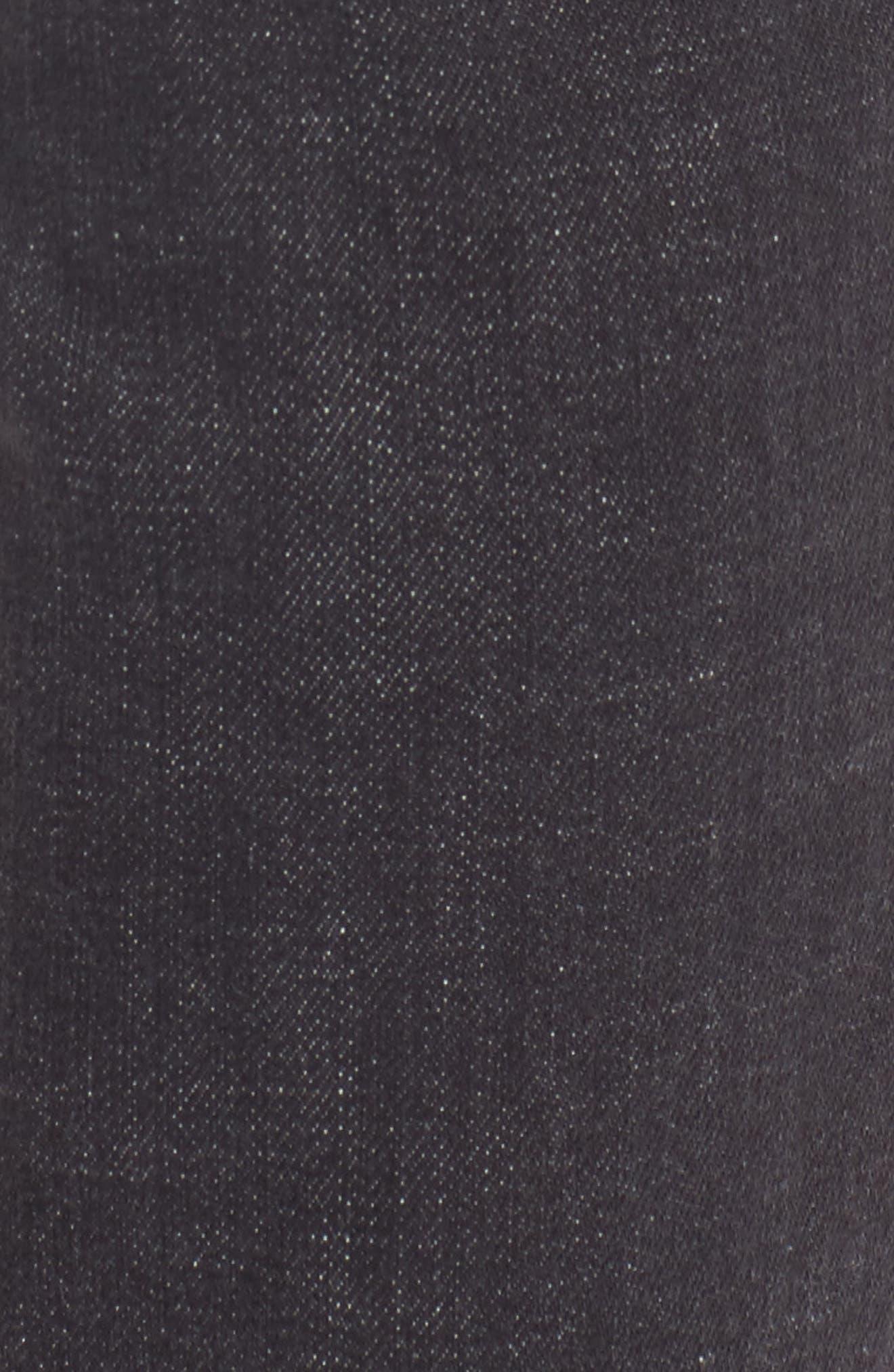 Biker Denim Jeans,                             Alternate thumbnail 5, color,                             Black