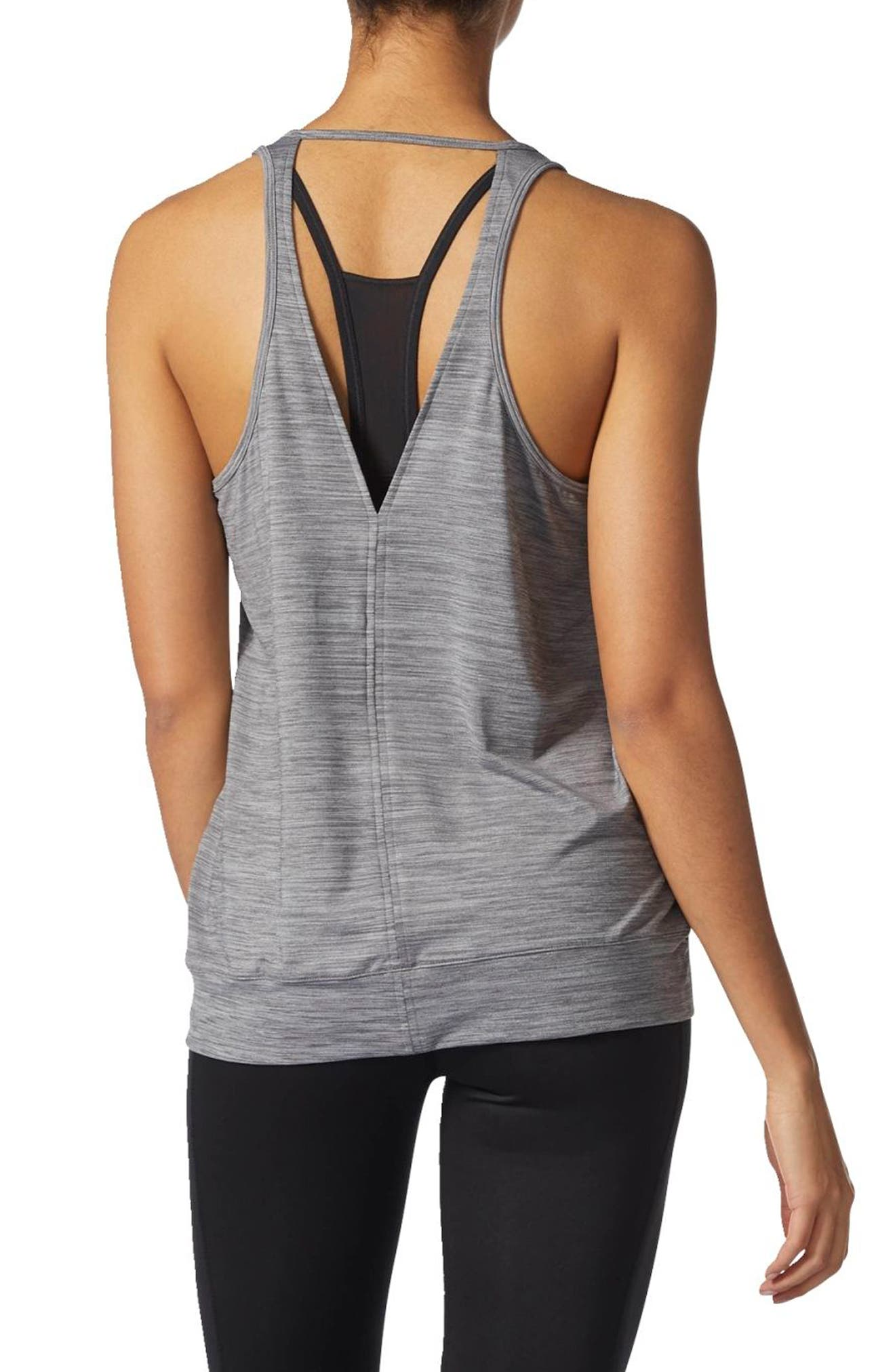 Performer Climalite<sup>®</sup> Banded Tank,                             Alternate thumbnail 2, color,                             Grey Five
