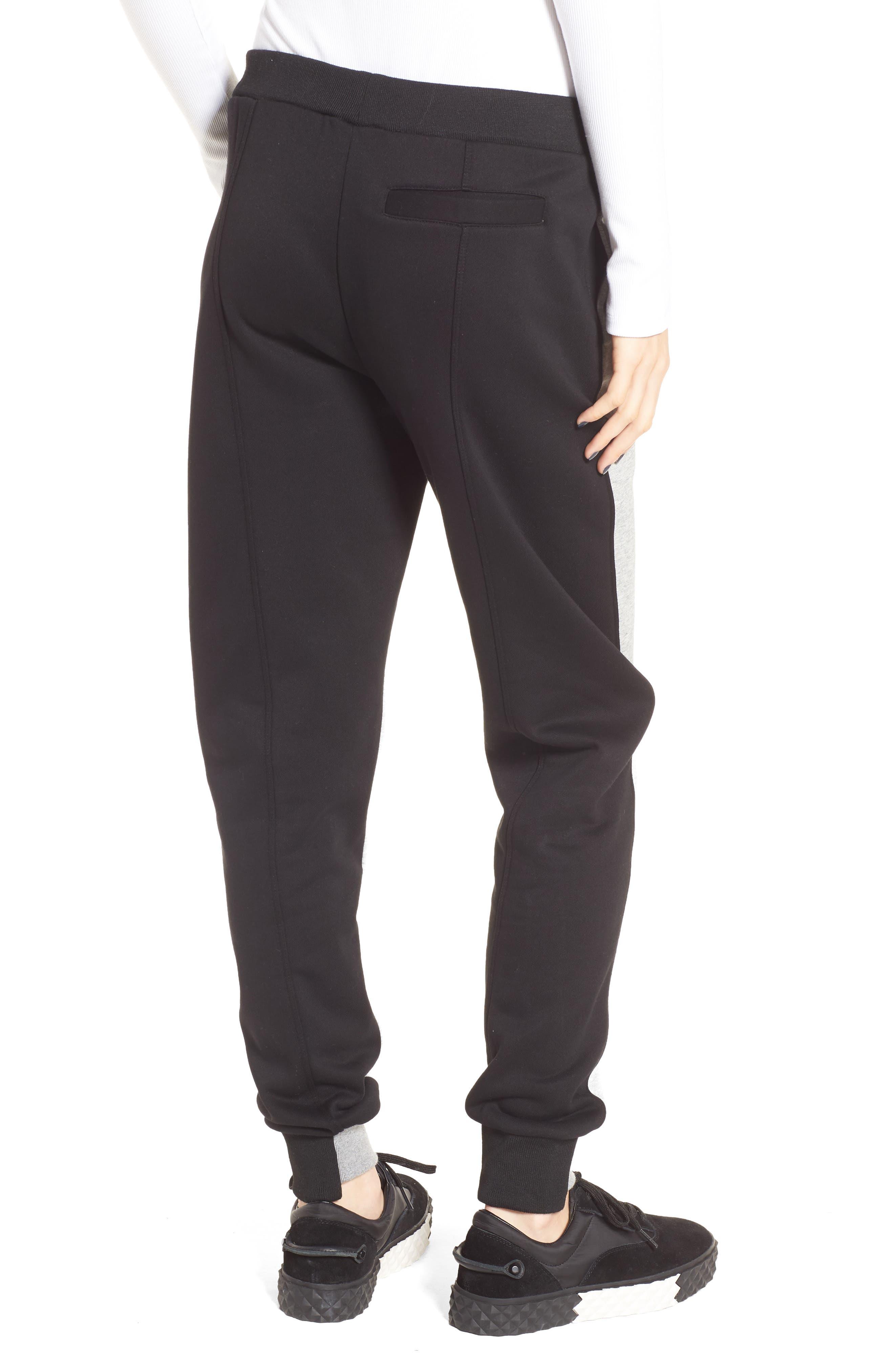 Paneled Sweatpants,                             Alternate thumbnail 2, color,                             Black/ Med. Heather Grey