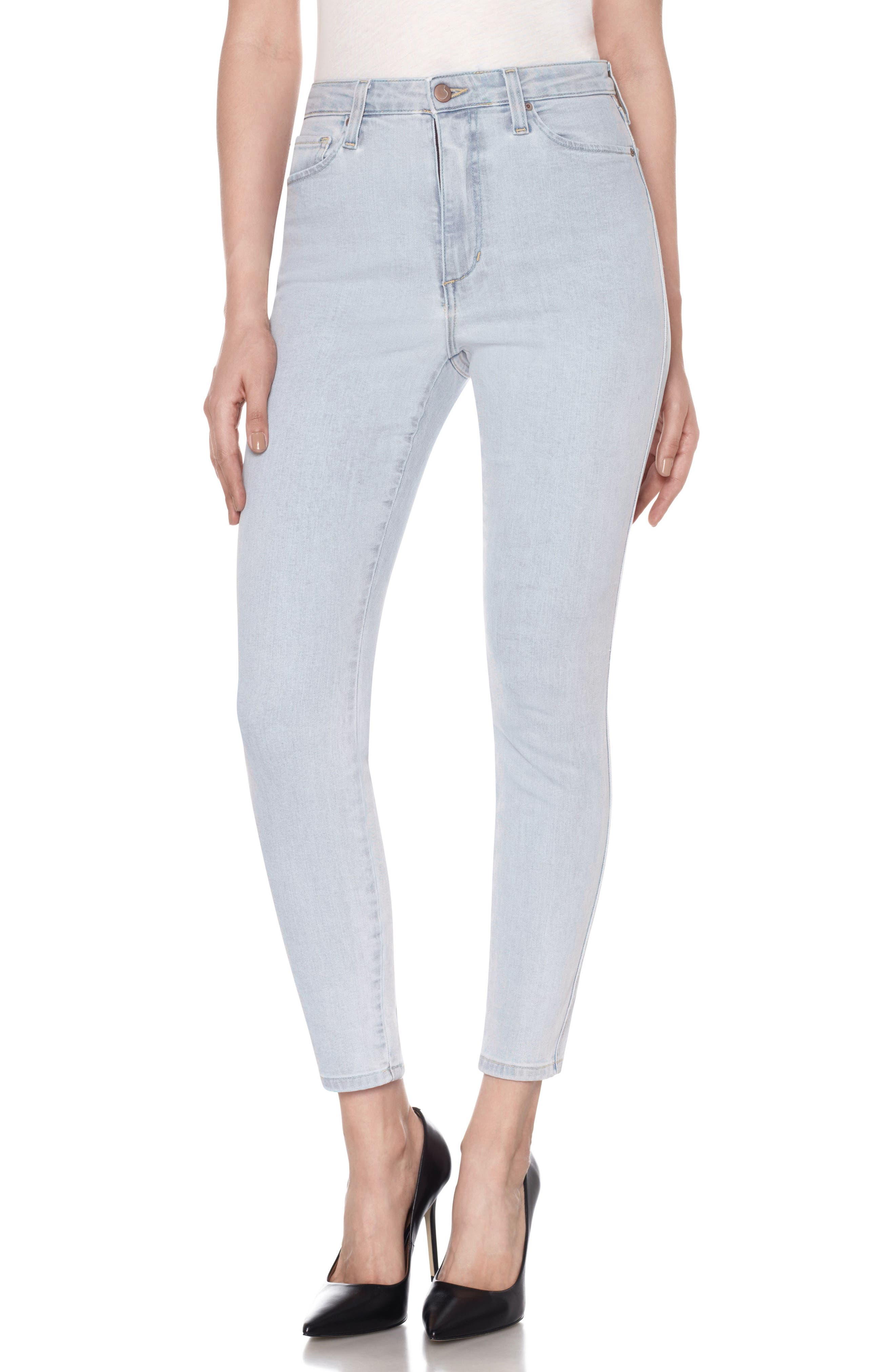 Flawless - Bella High Waist Ankle Skinny Jeans,                             Main thumbnail 1, color,                             Amada