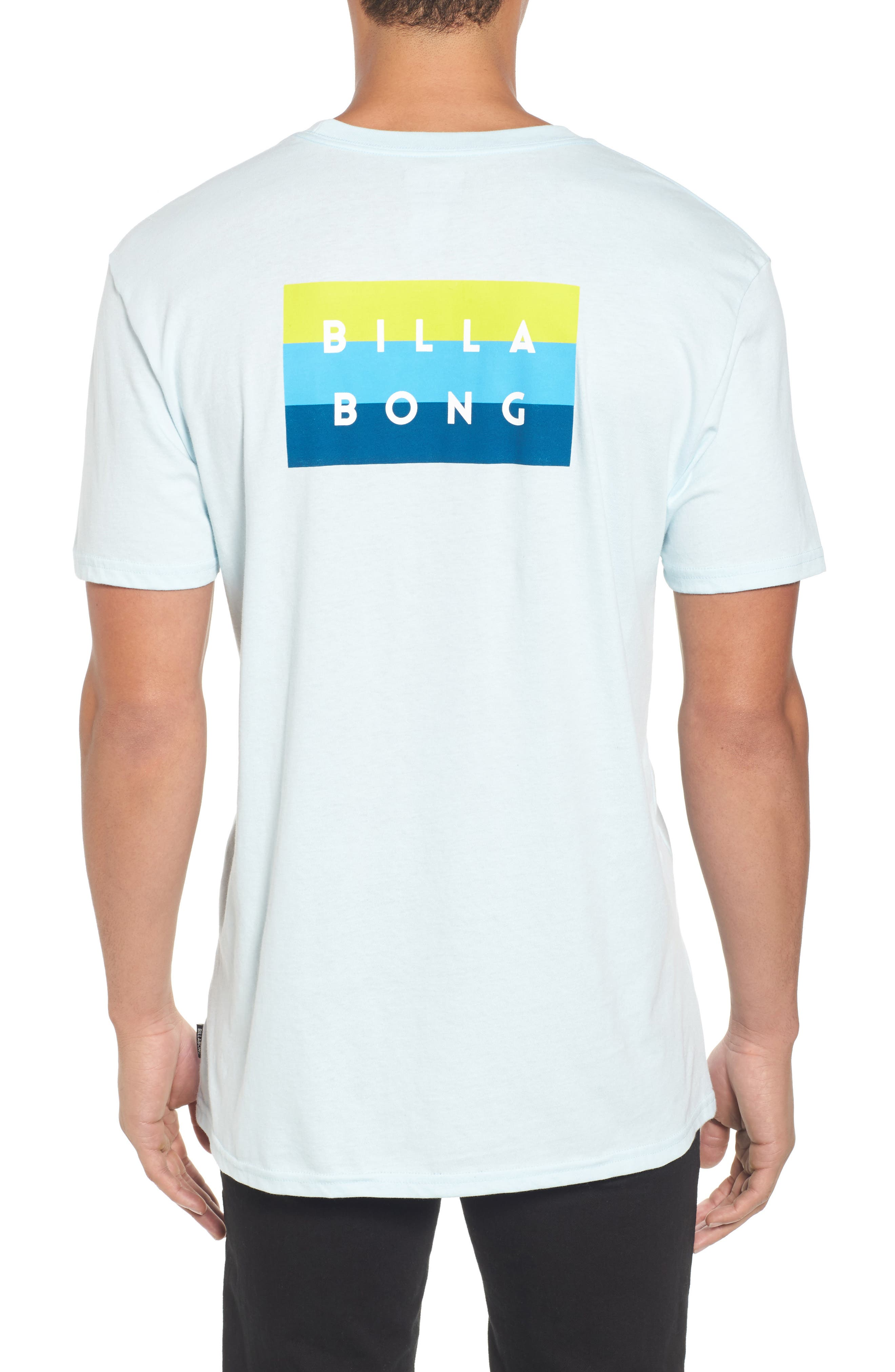 Die Cut Graphic T-Shirt,                             Alternate thumbnail 2, color,                             Coastal Blue