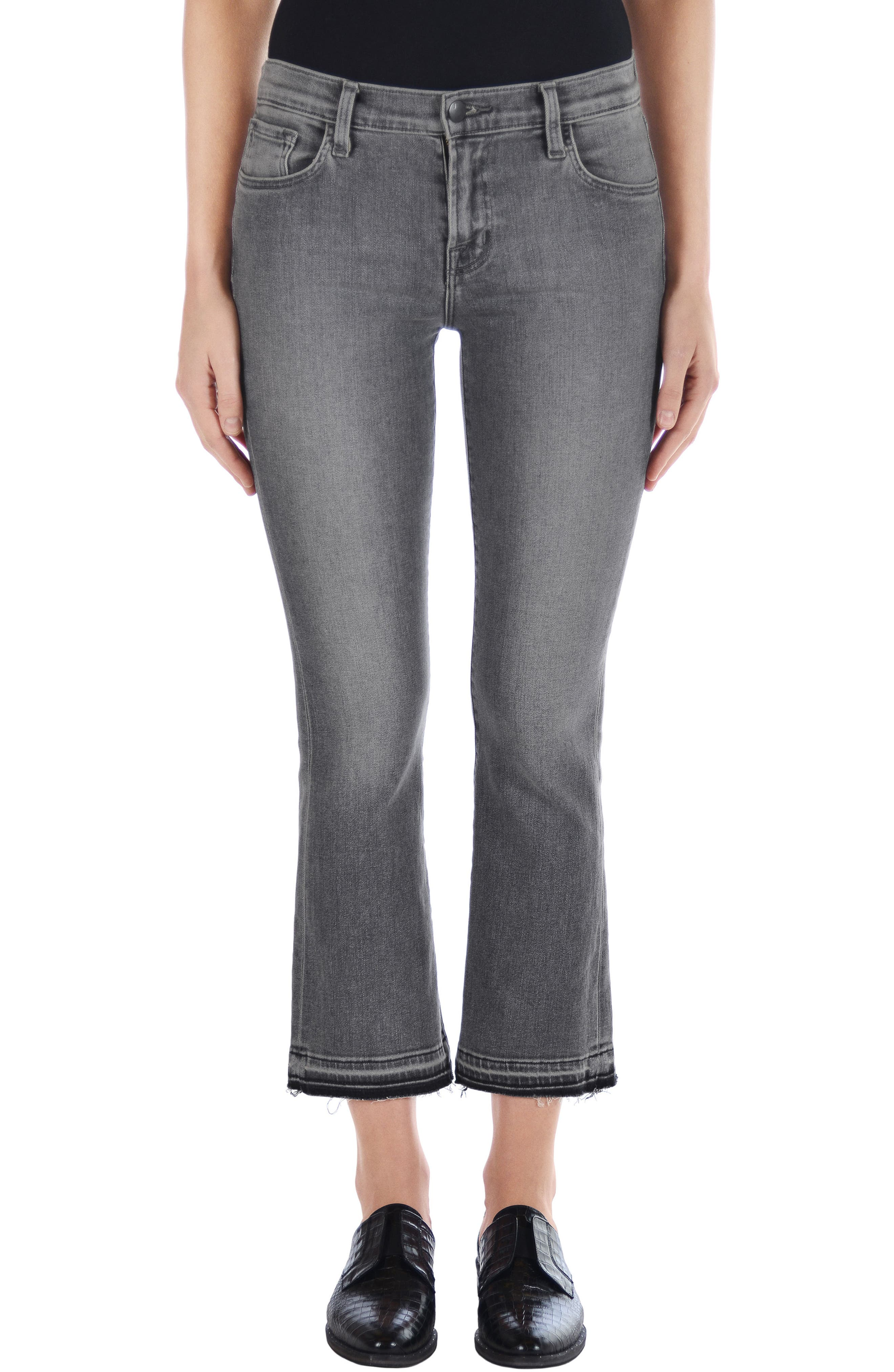 Selena Crop Bootcut Jeans,                         Main,                         color, Earl Grey