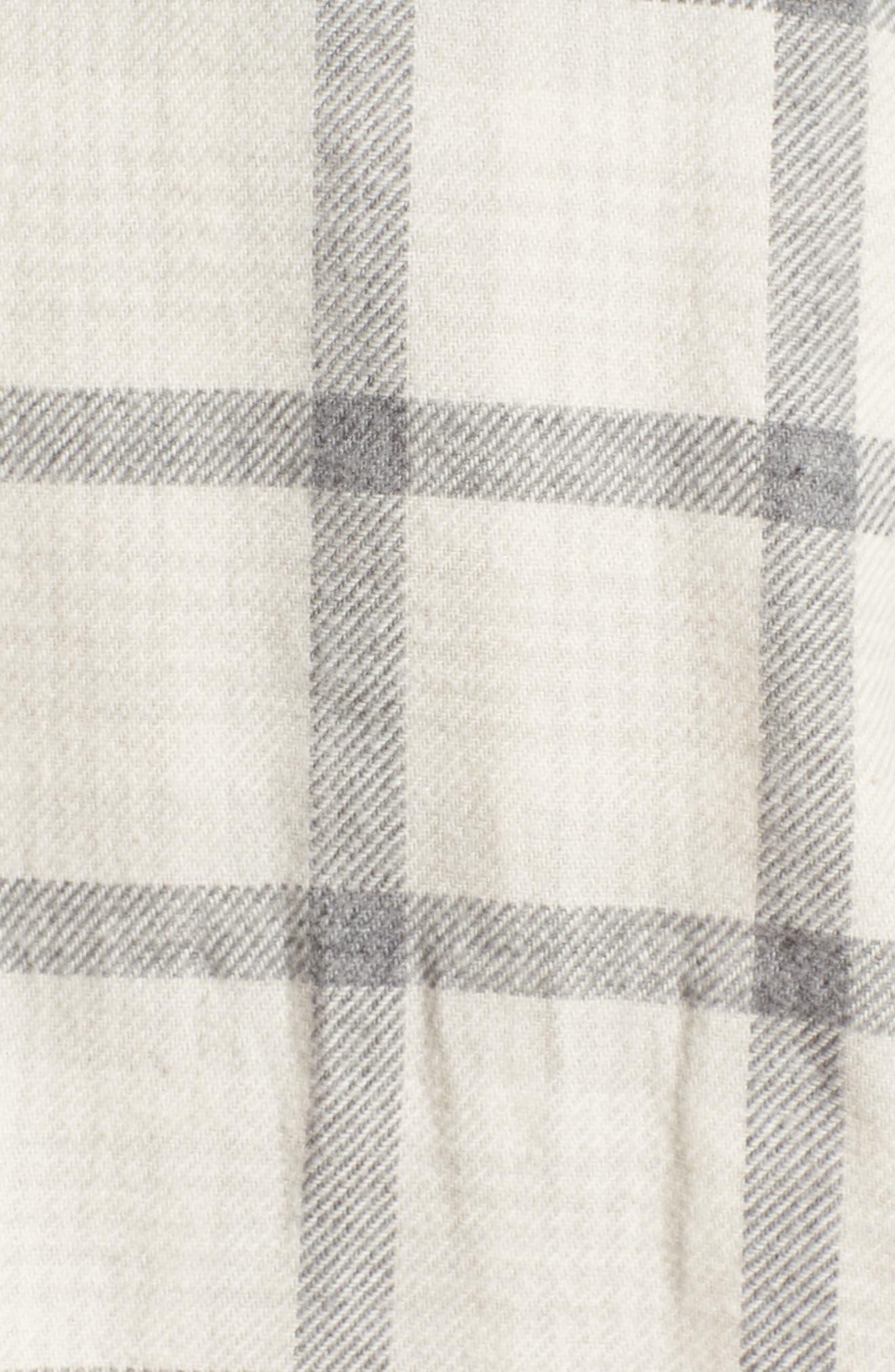 Grady Slim Fit Plaid Sport Shirt,                             Alternate thumbnail 5, color,                             Moon Glade/ Heather Grey
