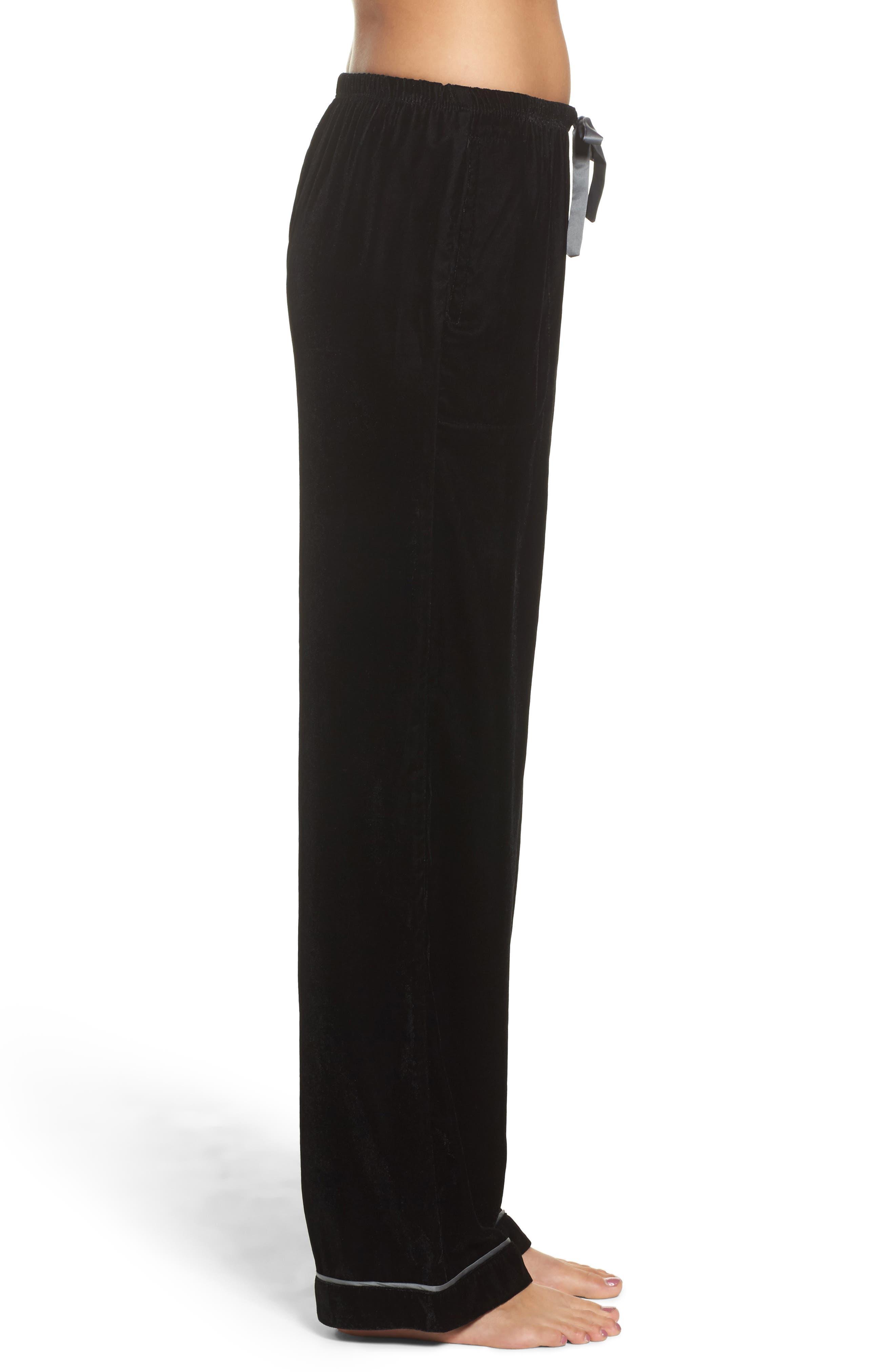 Alternate Image 3  - Room Service Velvet Pajama Pants