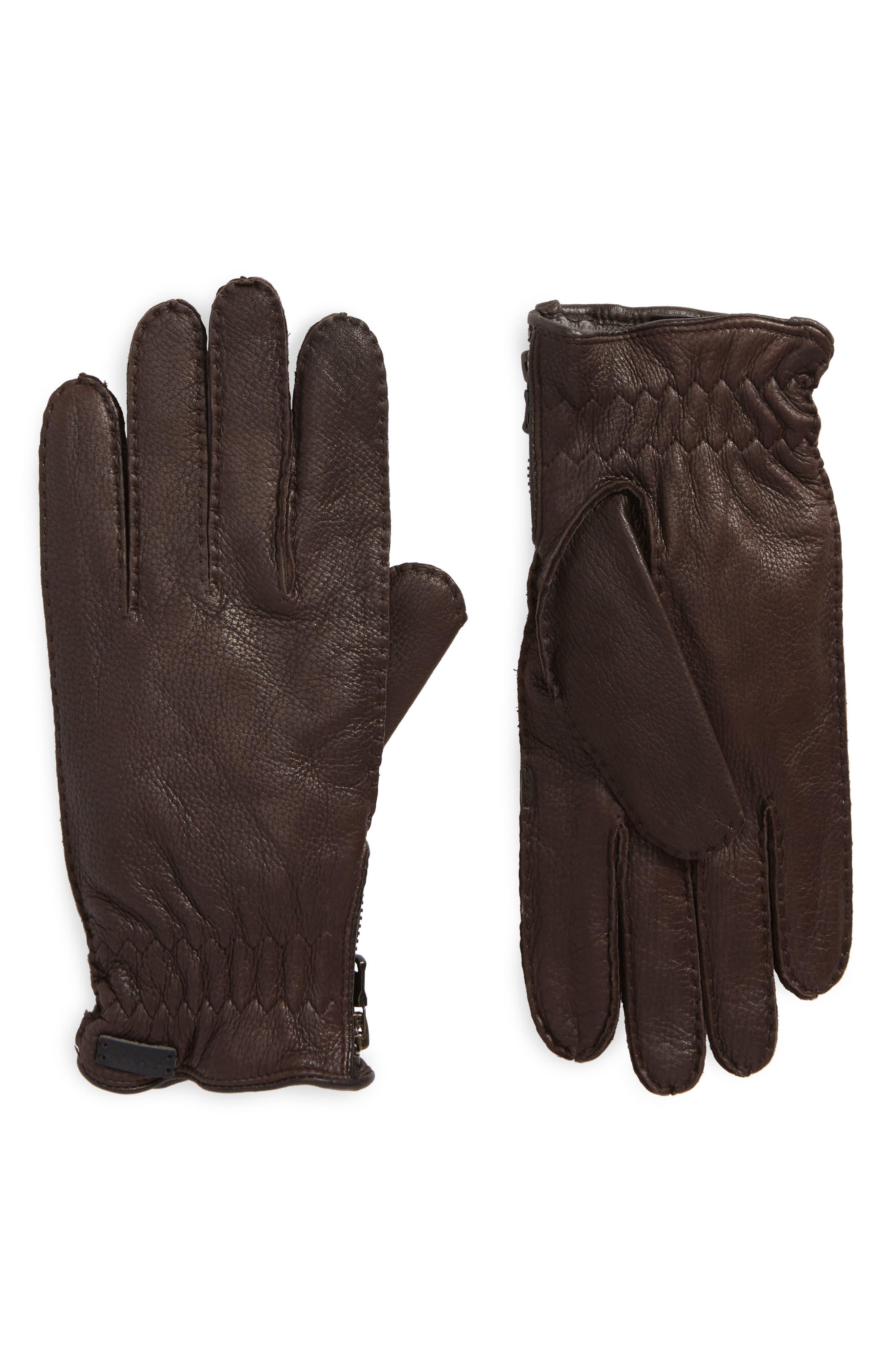 Main Image - John Varvatos Star USA Deerskin Leather Gloves