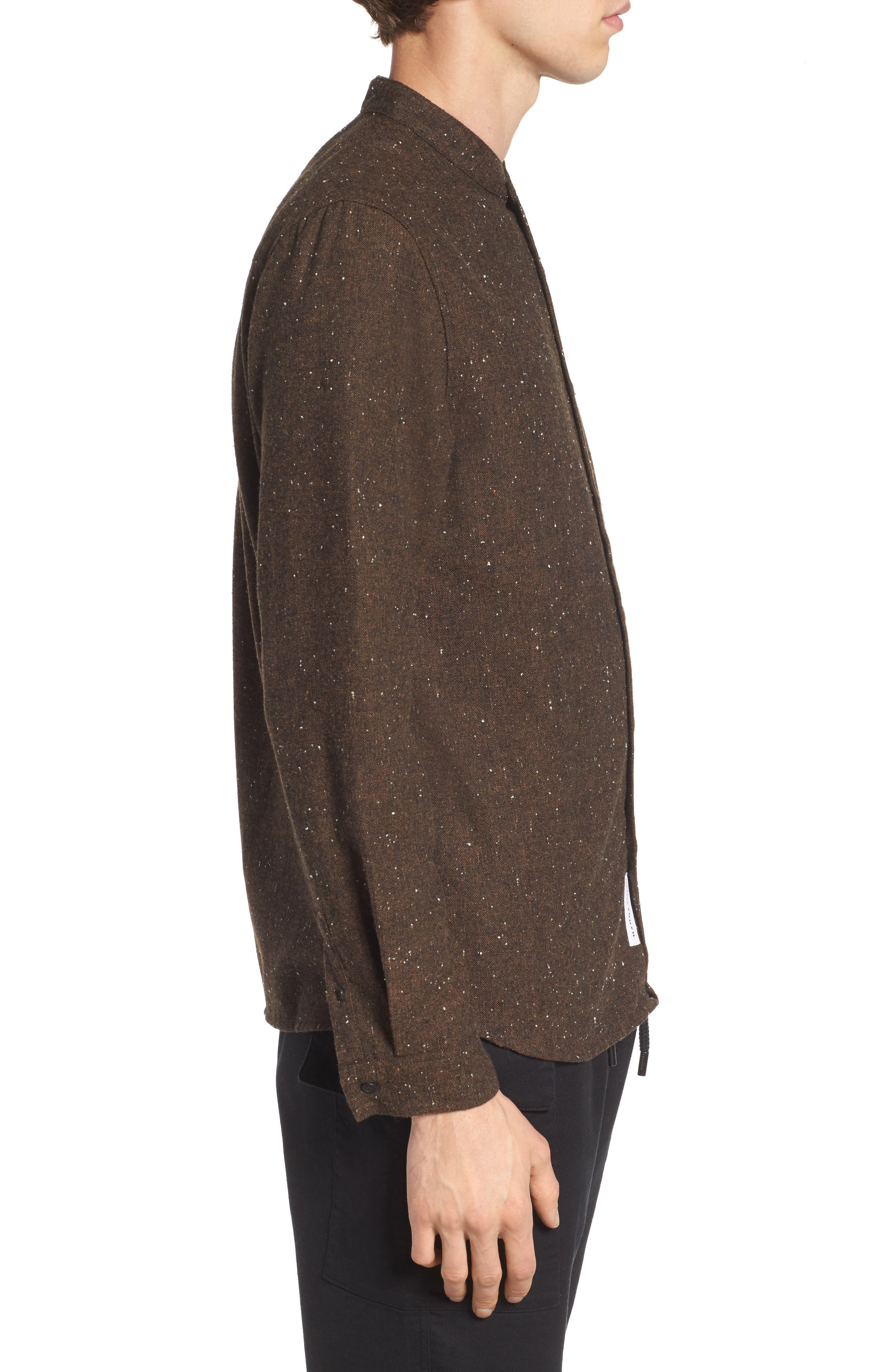 Alford Nep Shirt,                             Alternate thumbnail 3, color,                             Brown