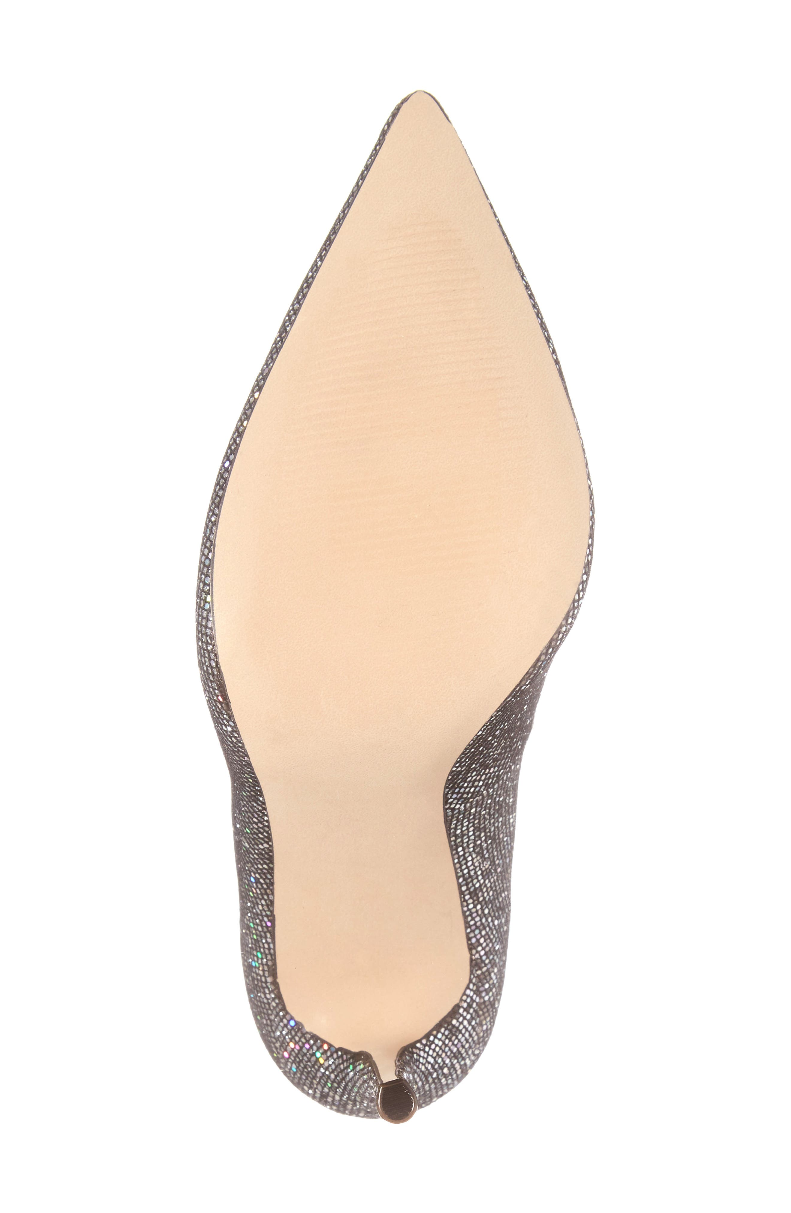 Daisie Pointy-Toe Pump,                             Alternate thumbnail 6, color,                             Black Multi Glitter