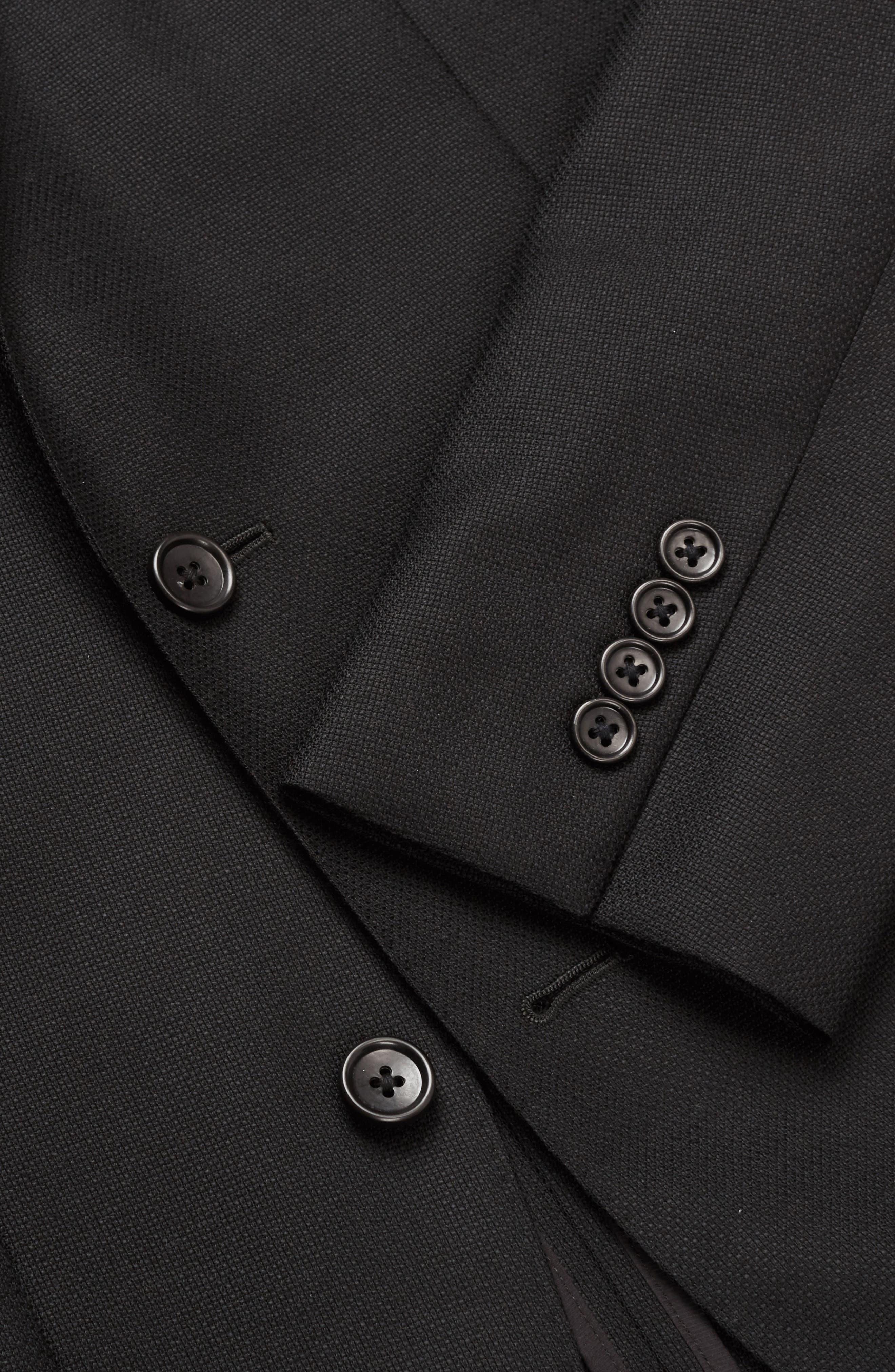 Wool Unconstructed Sport Coat,                             Alternate thumbnail 3, color,                             Black