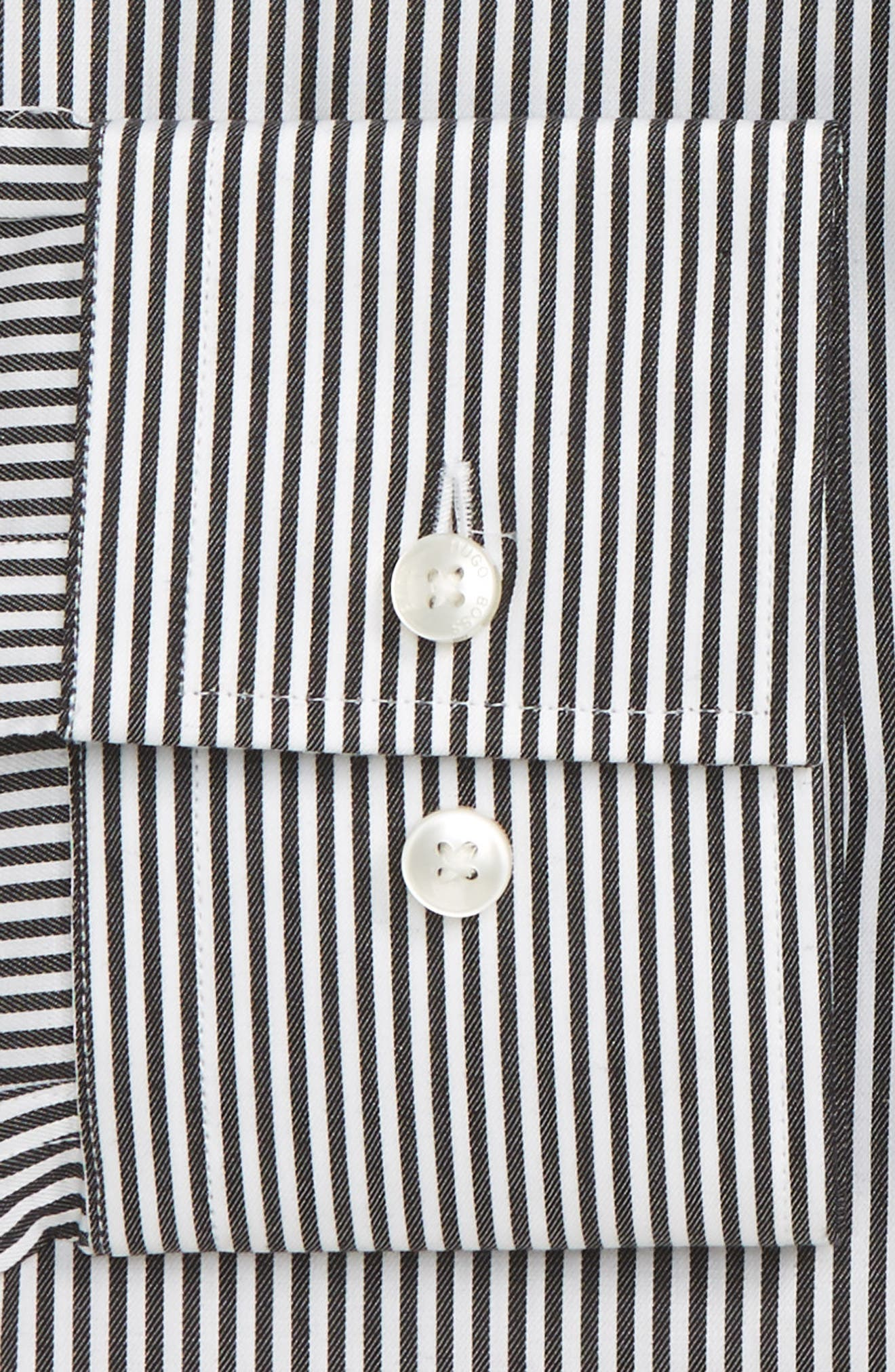Alternate Image 2  - BOSS Jenno Slim Fit Stripe Dress Shirt