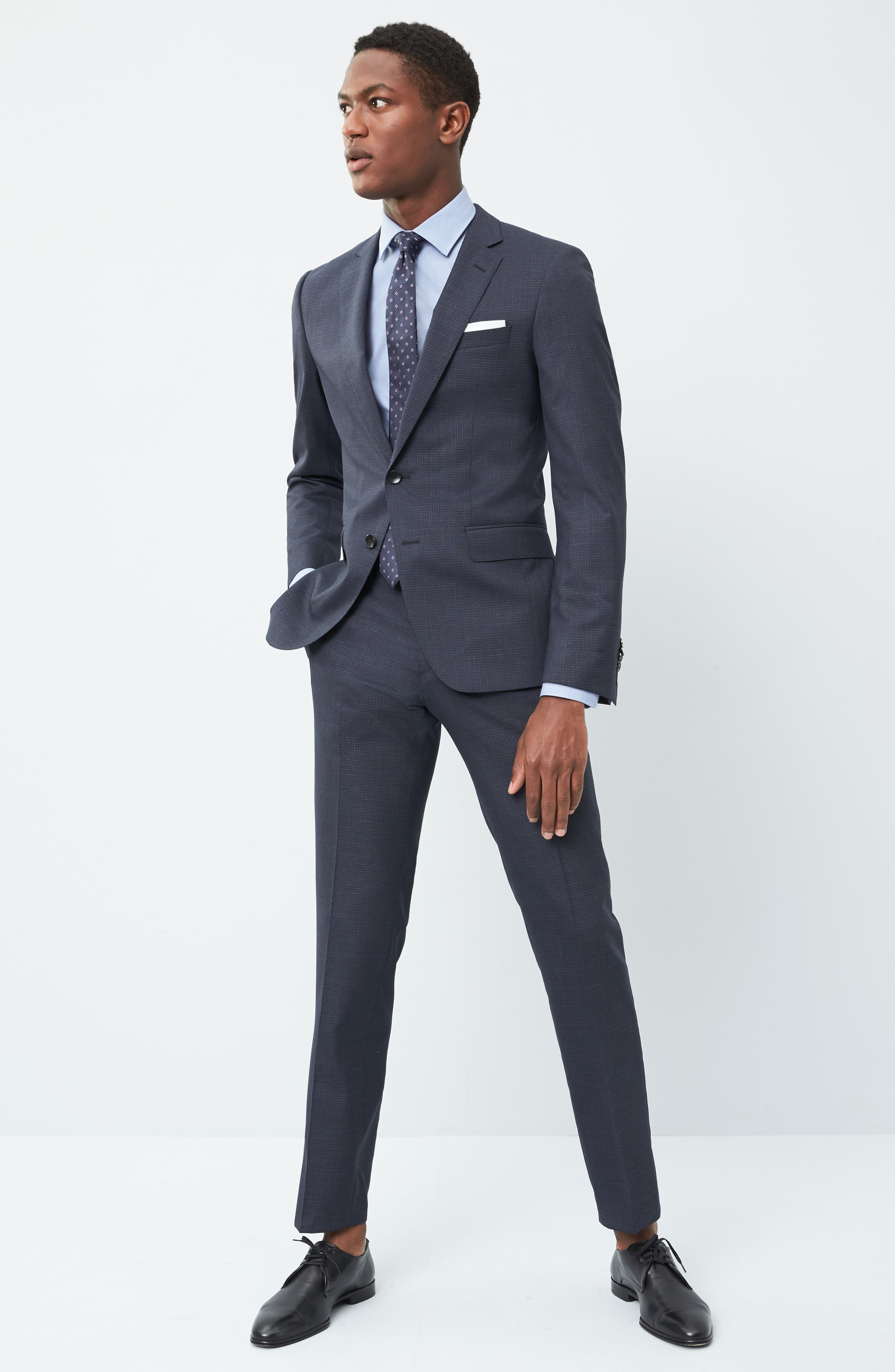 Alternate Image 9  - BOSS Huge/Genius Trim Fit Check Wool Suit