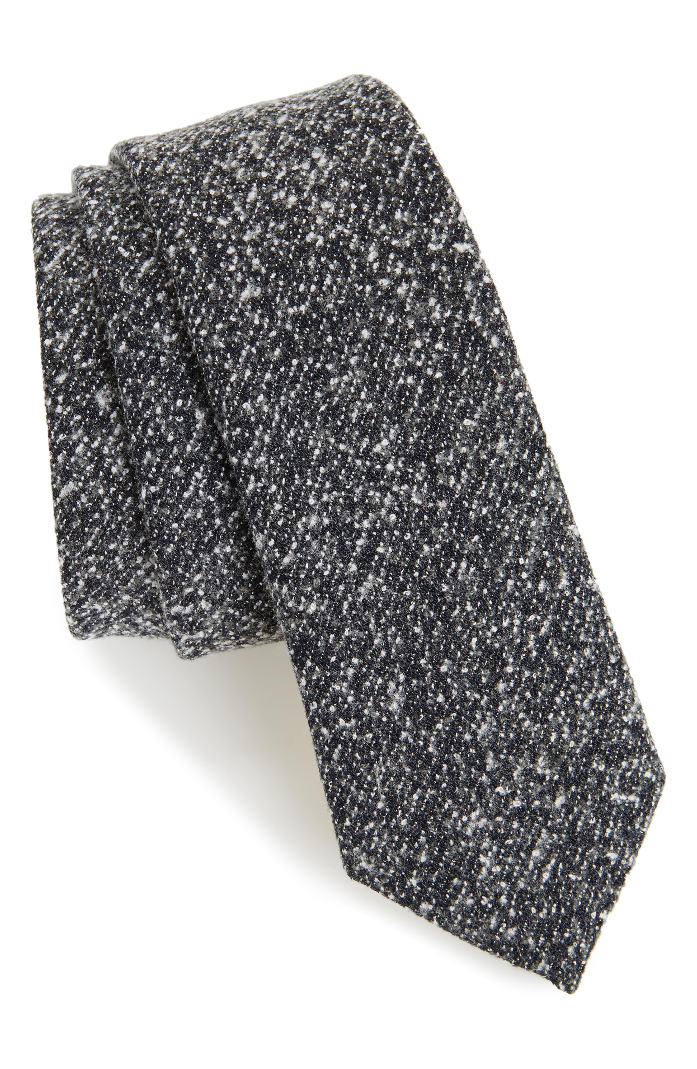 Topman Salt & Pepper Woven Tie