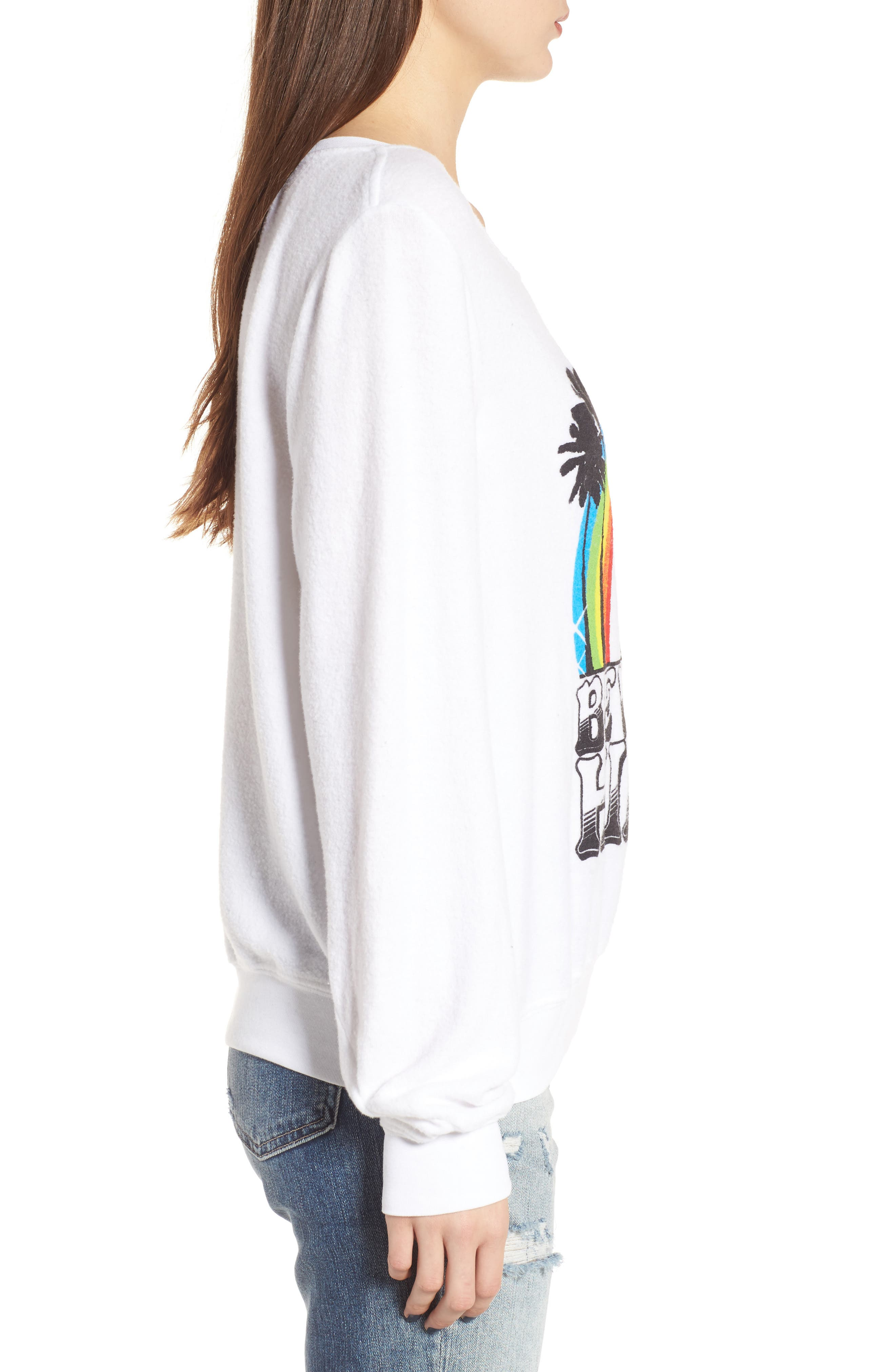 Beverly Hills Sweatshirt,                             Alternate thumbnail 3, color,                             Clean White
