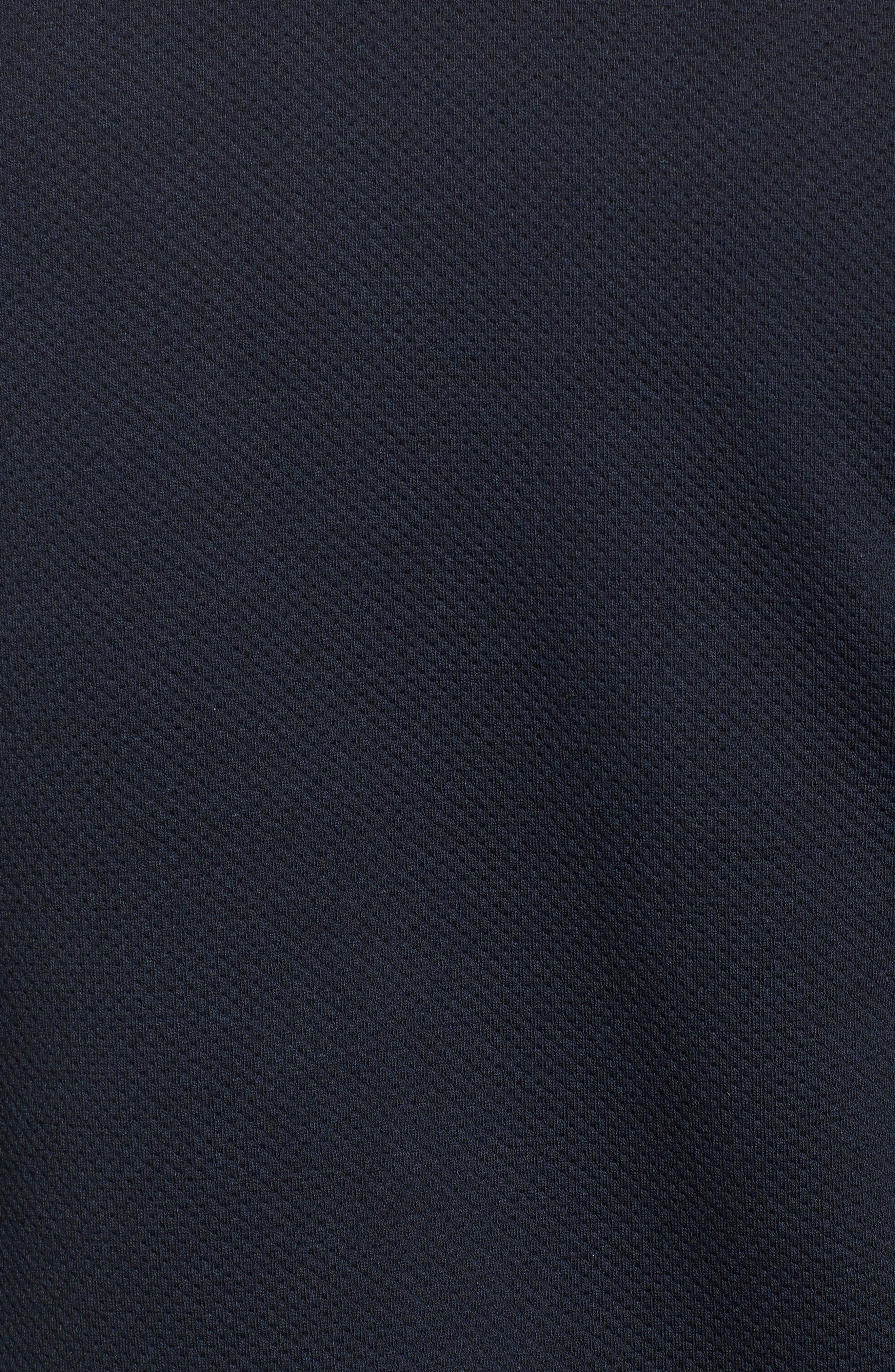 Whatts Trim Fit Textured Bomber Jacket,                             Alternate thumbnail 5, color,                             Navy