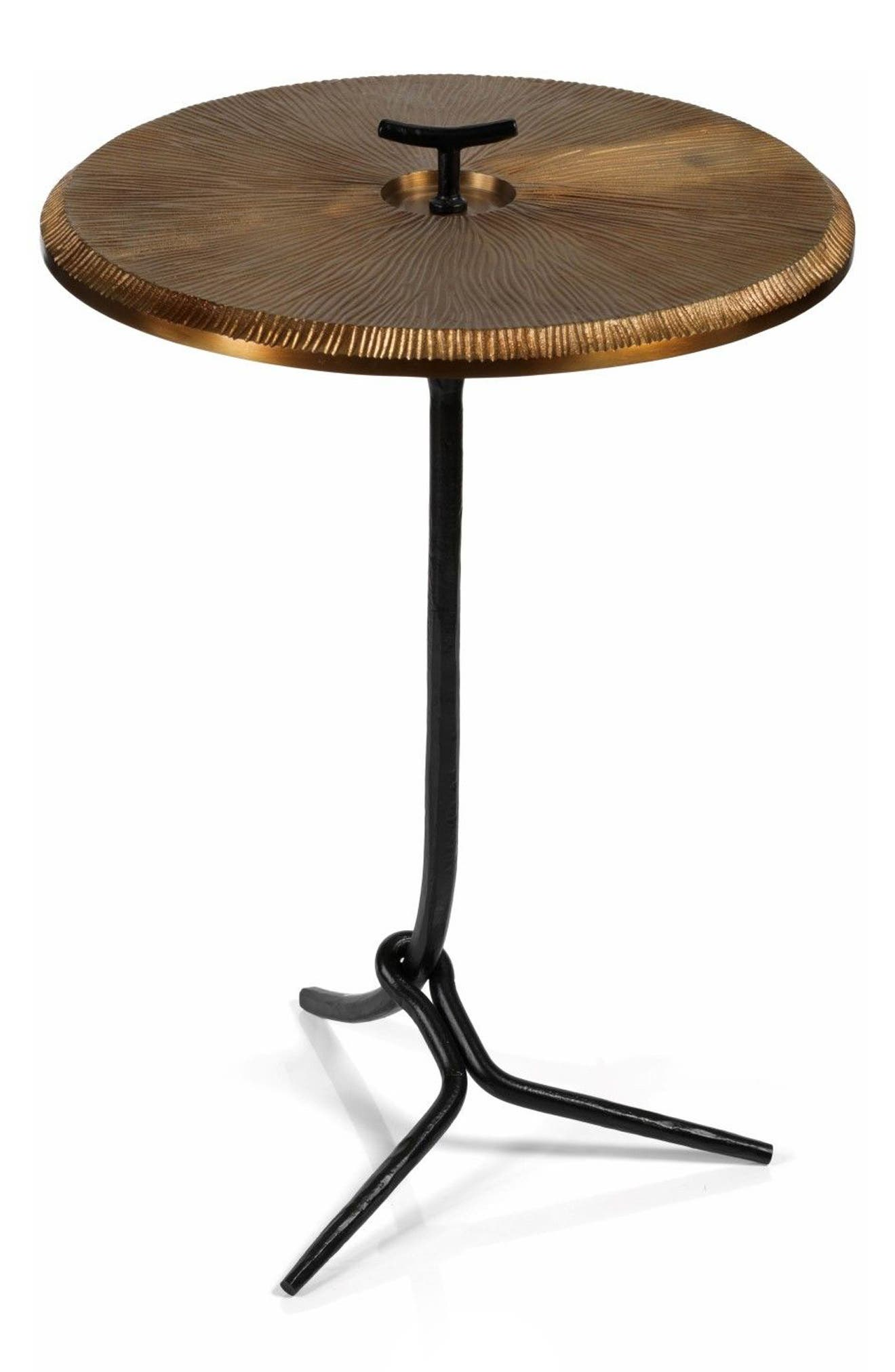 San Mateo Side Table,                         Main,                         color, Gold
