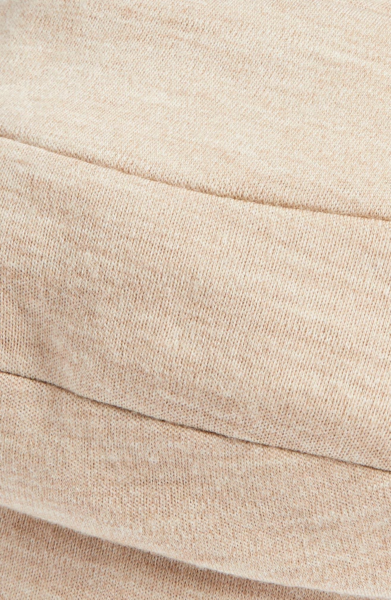Wool Blend Jersey Beret,                             Alternate thumbnail 2, color,                             Camel Melange