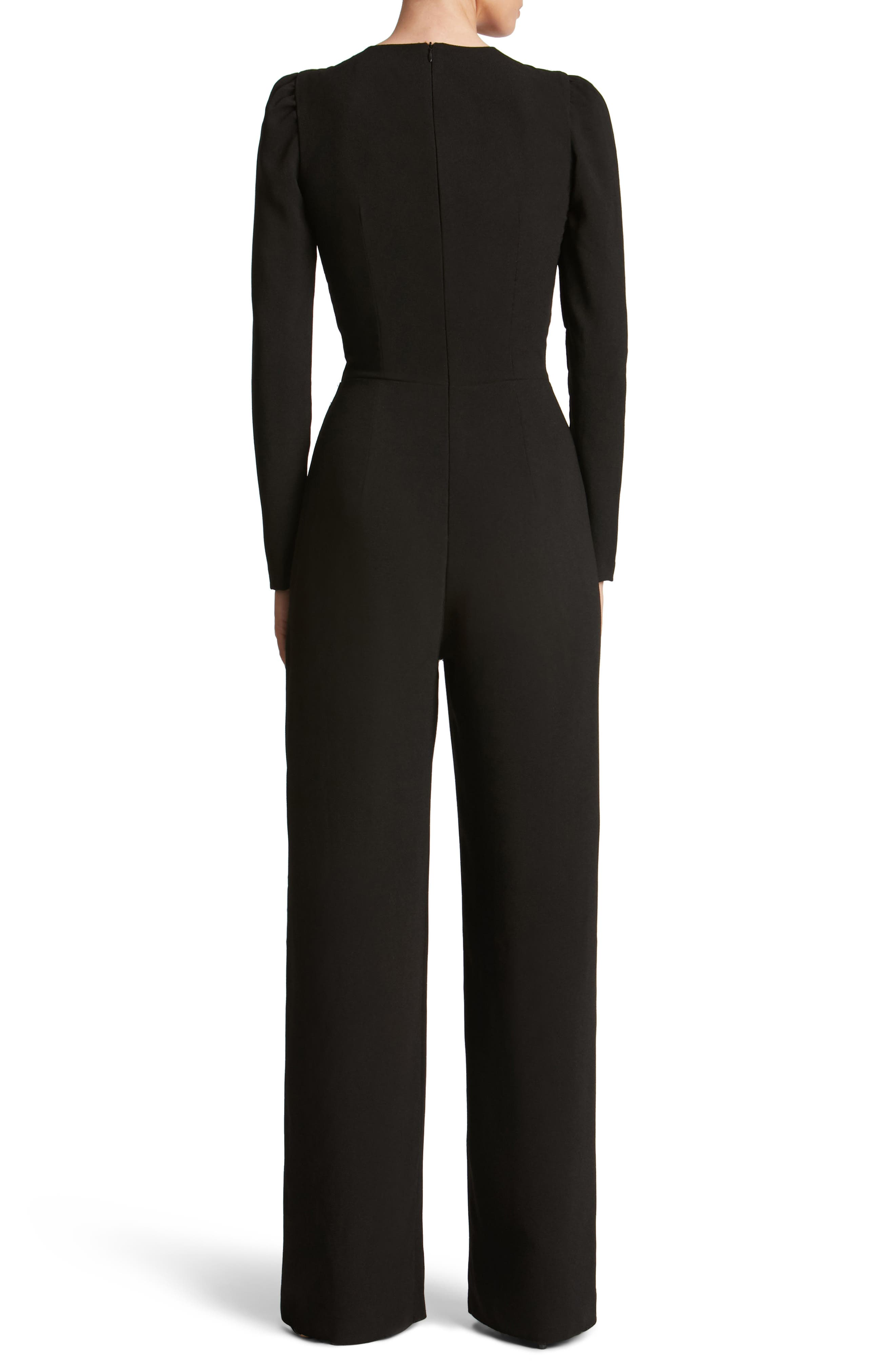 Alternate Image 2  - Dress the Population Drew Plunging Illusion Jumpsuit