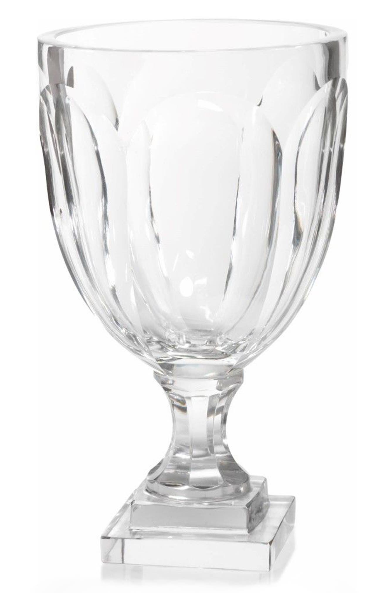 Turin Vase,                         Main,                         color, Clear
