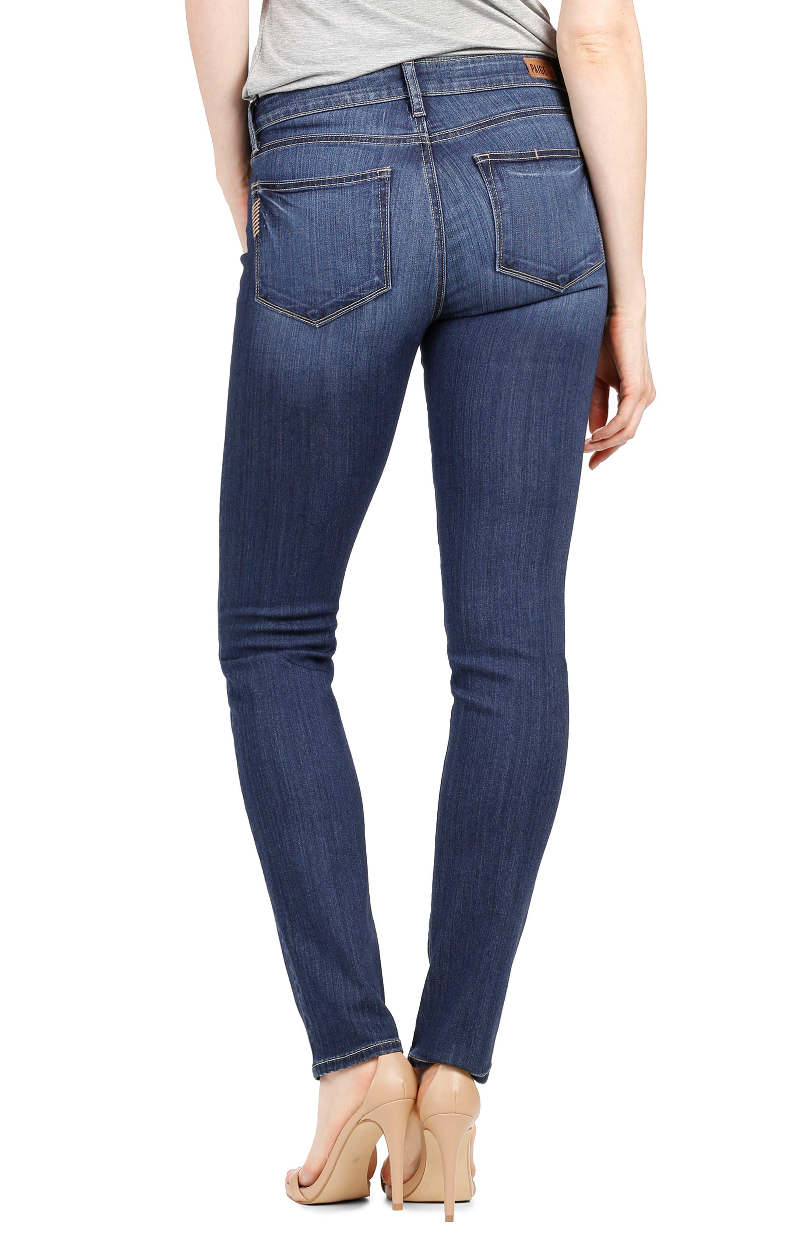 Transcend - Skyline Skinny Jeans,                             Alternate thumbnail 3, color,                             Blue
