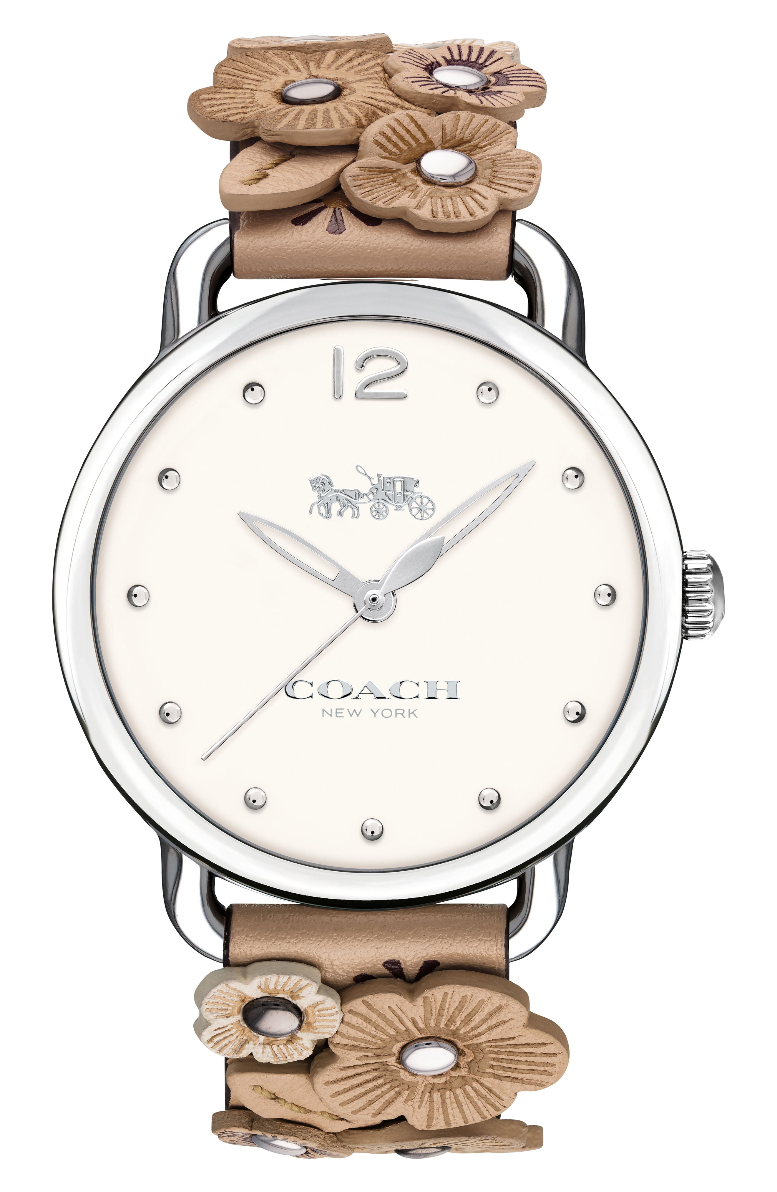 Alternate Image 1 Selected - COACH Delancey Leather Strap Watch, 36mm
