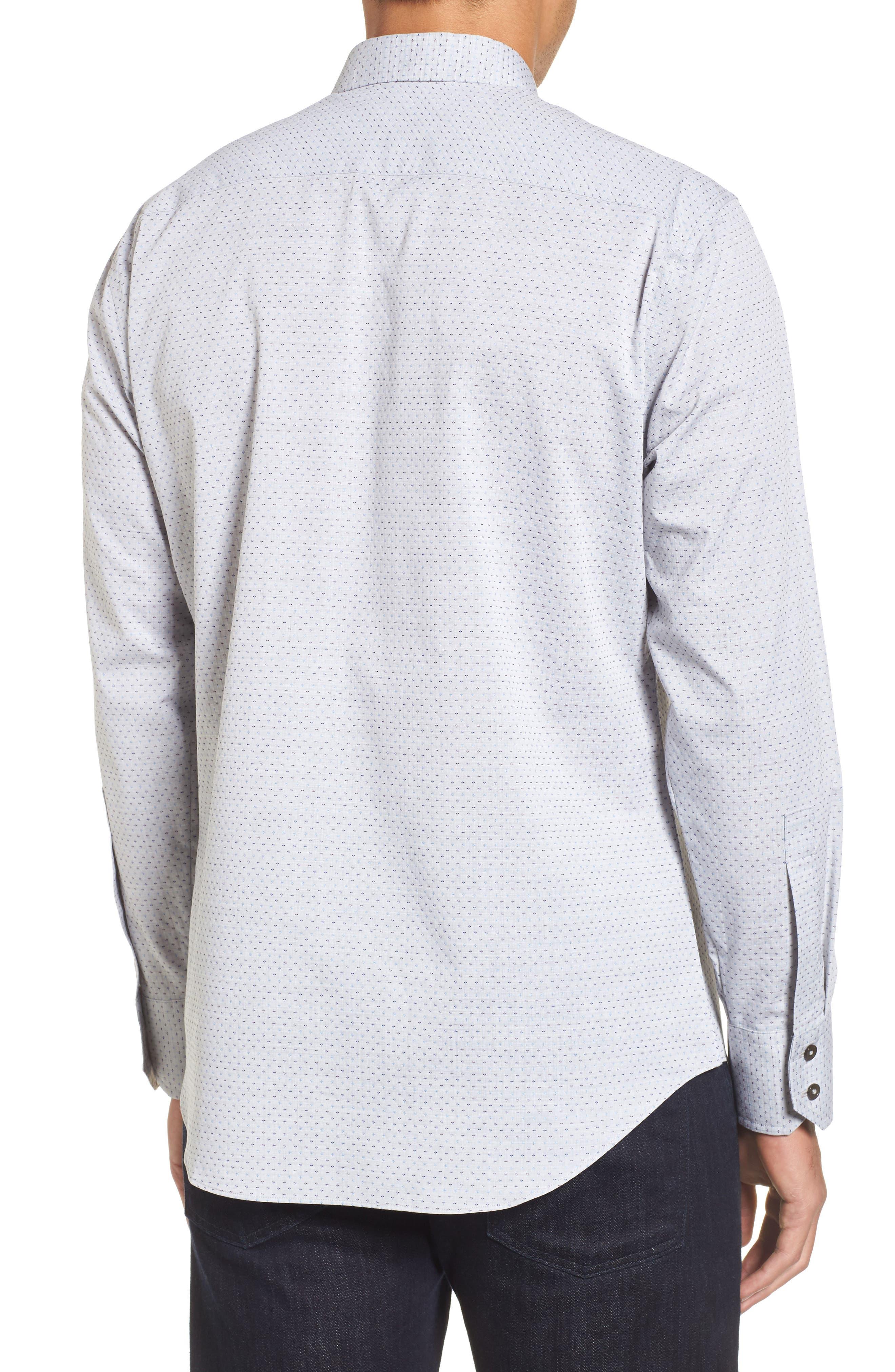 Atila Slim Fit Dobby Woven Sport Shirt,                             Alternate thumbnail 2, color,                             Light Grey