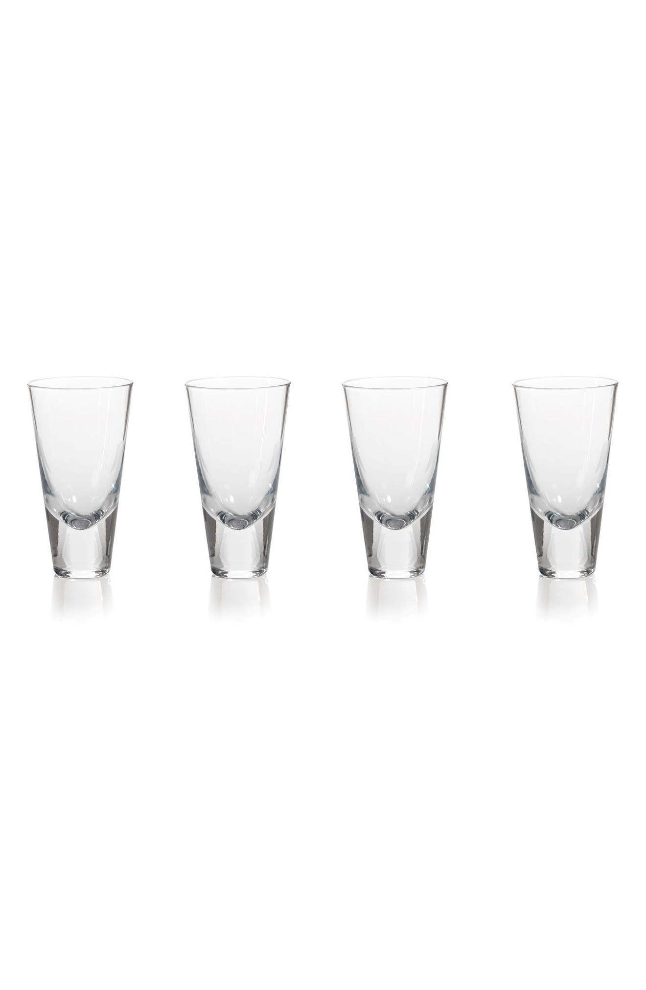 Anatole Set of 4 Drinking Glasses,                         Main,                         color, Clear