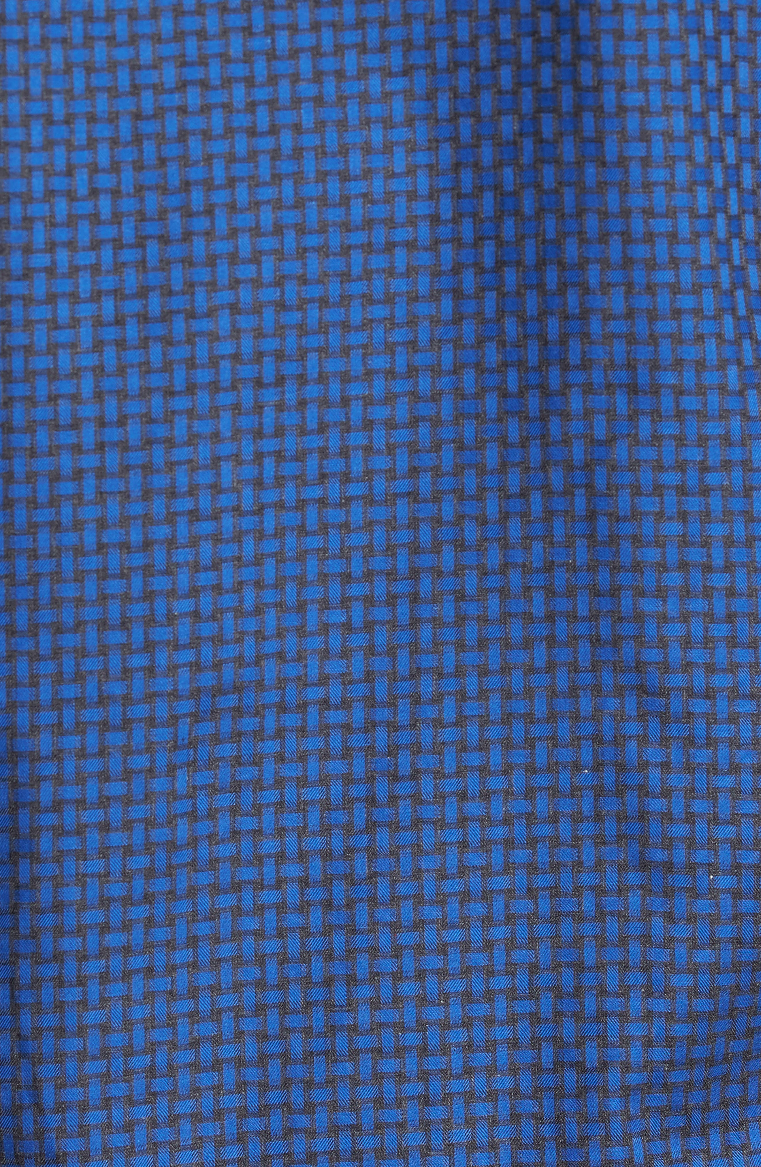 Classic Fit Basket Weave Jacquard Sport Shirt,                             Alternate thumbnail 5, color,                             Night Blue