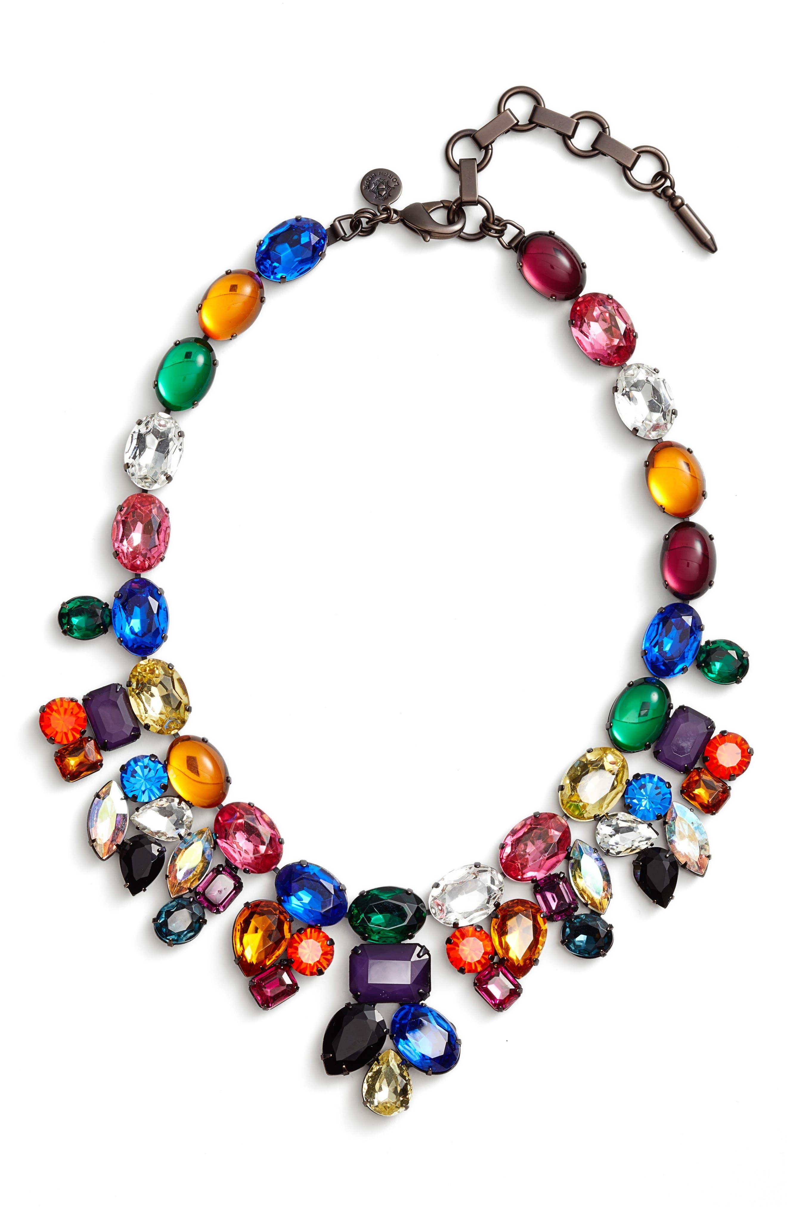 Tori Crystal Choker Necklace,                         Main,                         color, Multi