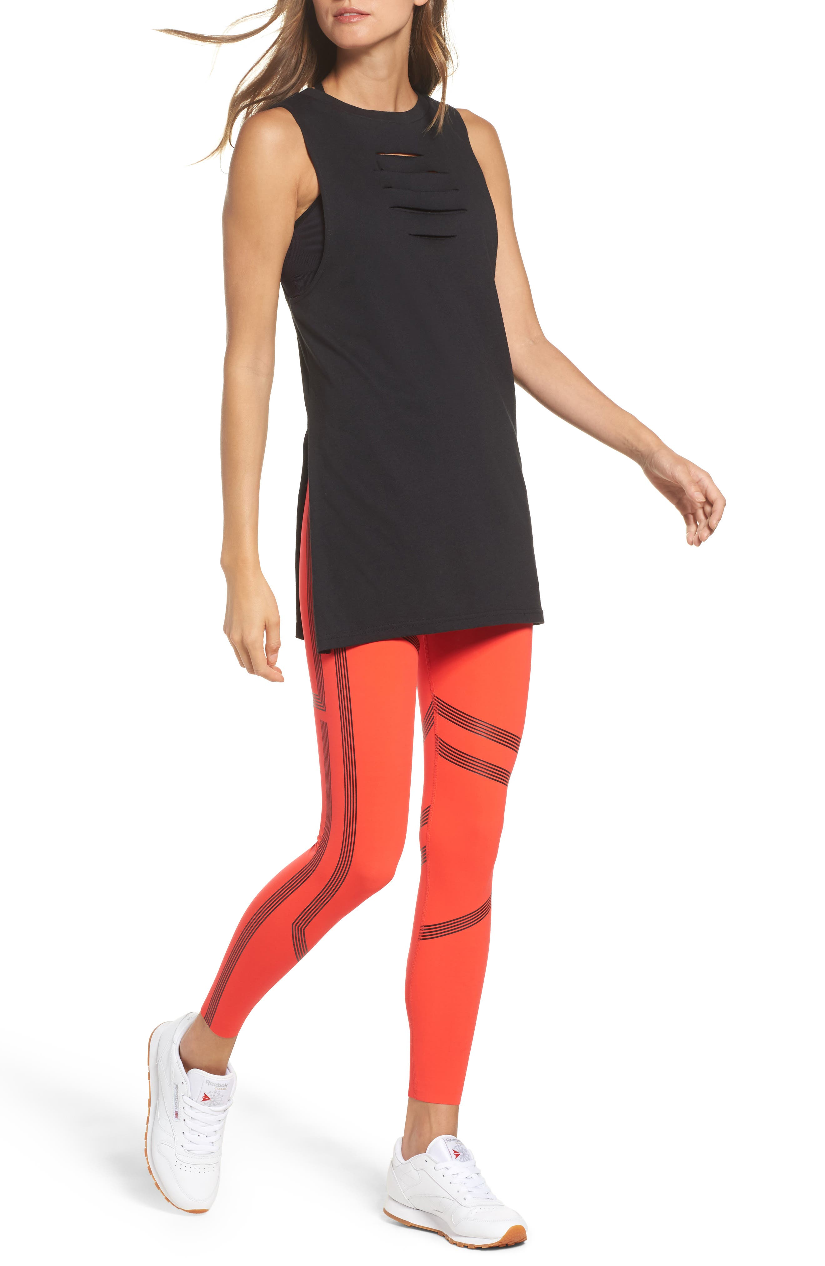 Alternate Image 8  - Reebok Linear High Rise Performance Tights