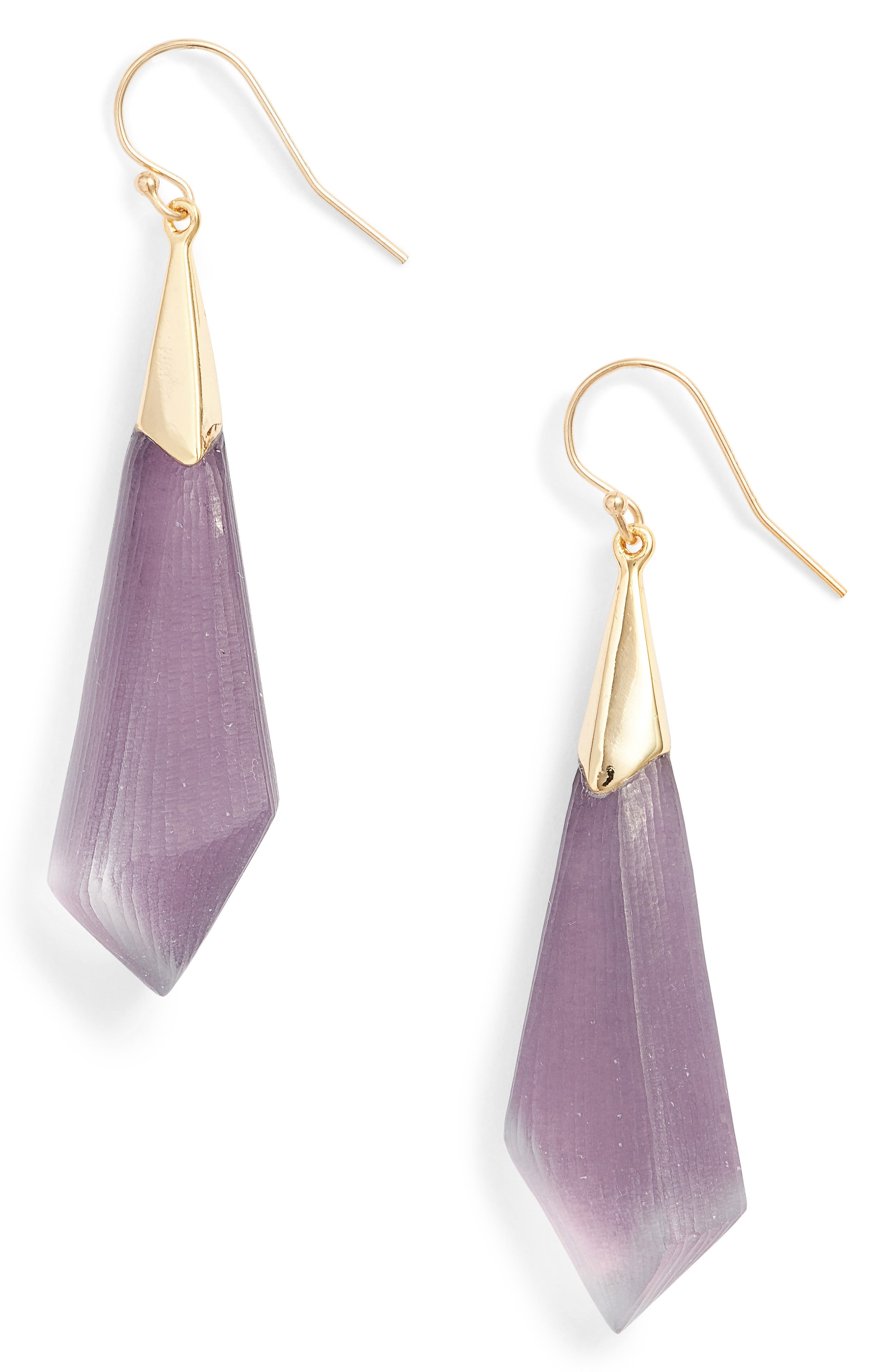 Lucite<sup>®</sup> Drop Earrings,                         Main,                         color, Deep Lilac