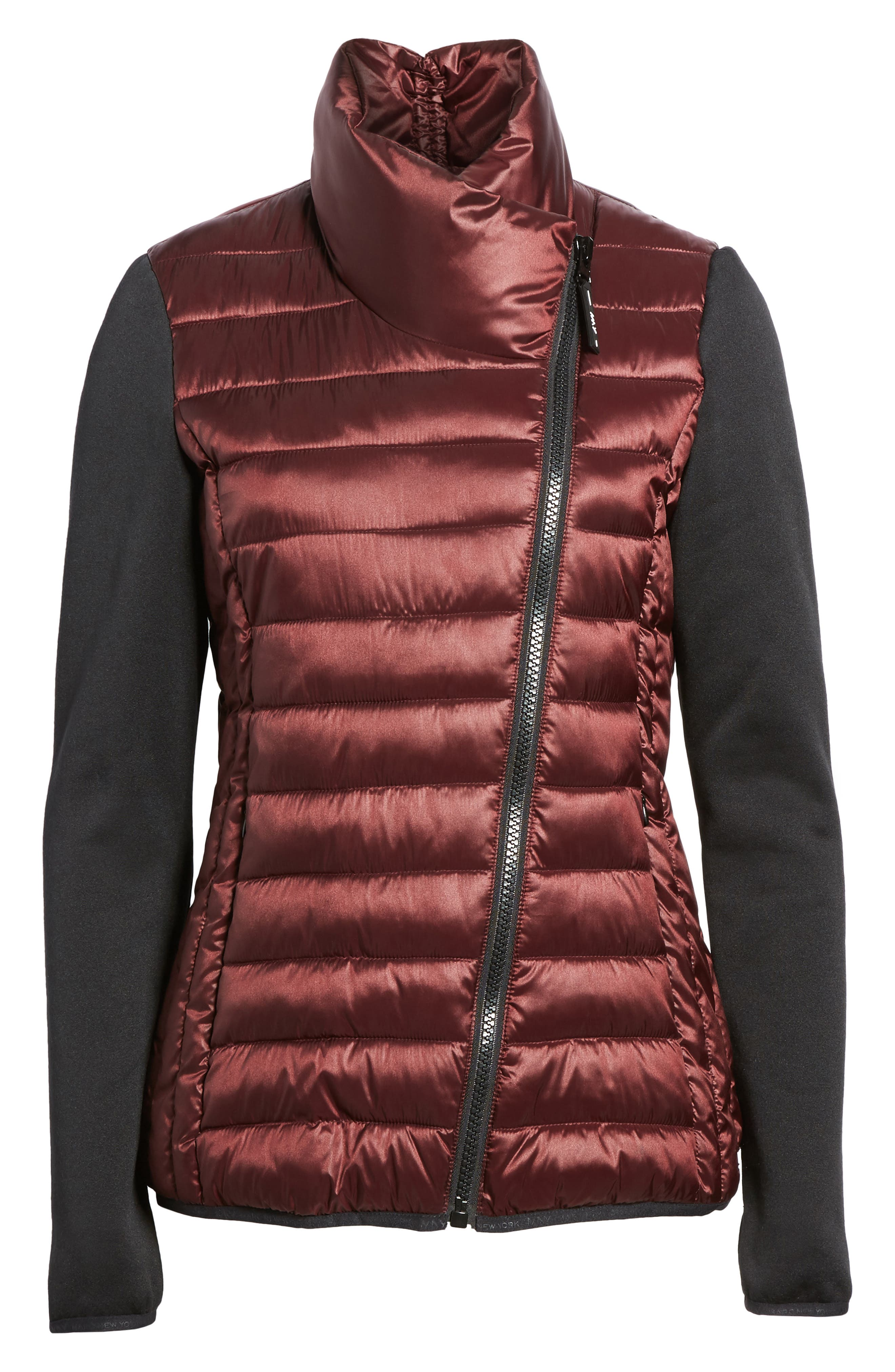 Alternate Image 5  - Marc New York Knit Sleeve Packable Puffer Jacket