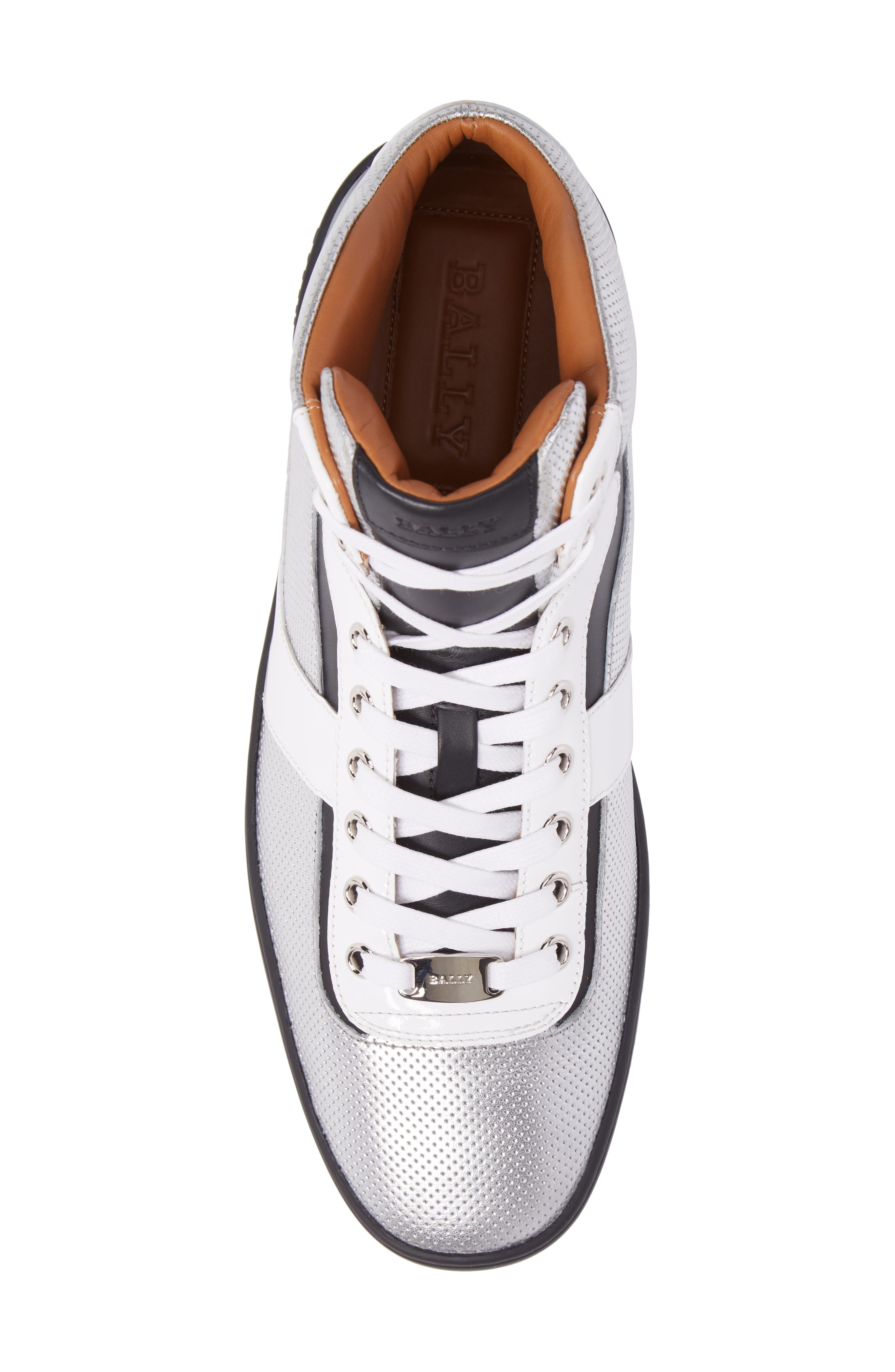 Eroy High Top Sneaker,                             Alternate thumbnail 5, color,                             Silver