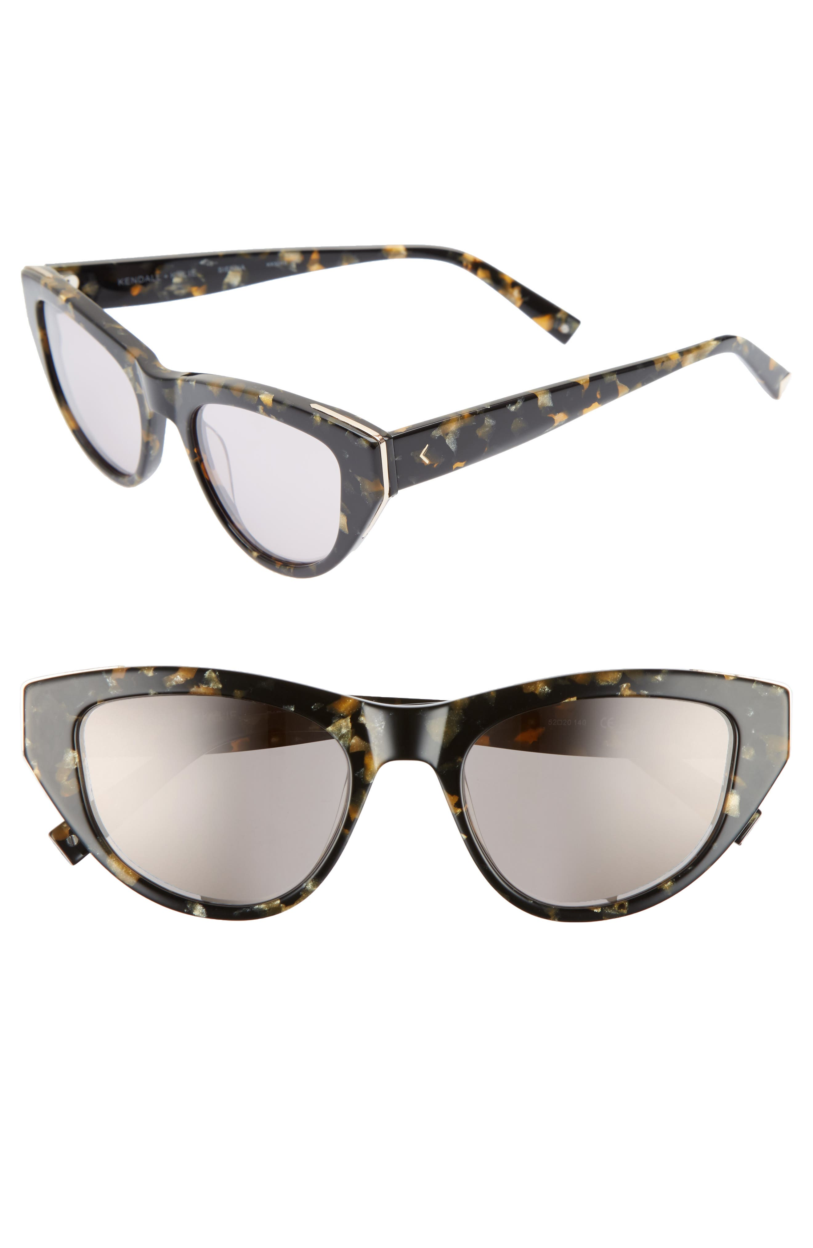 KENDALL + KYLIE Sienna 52mm Retro Cat Eye Sunglasses