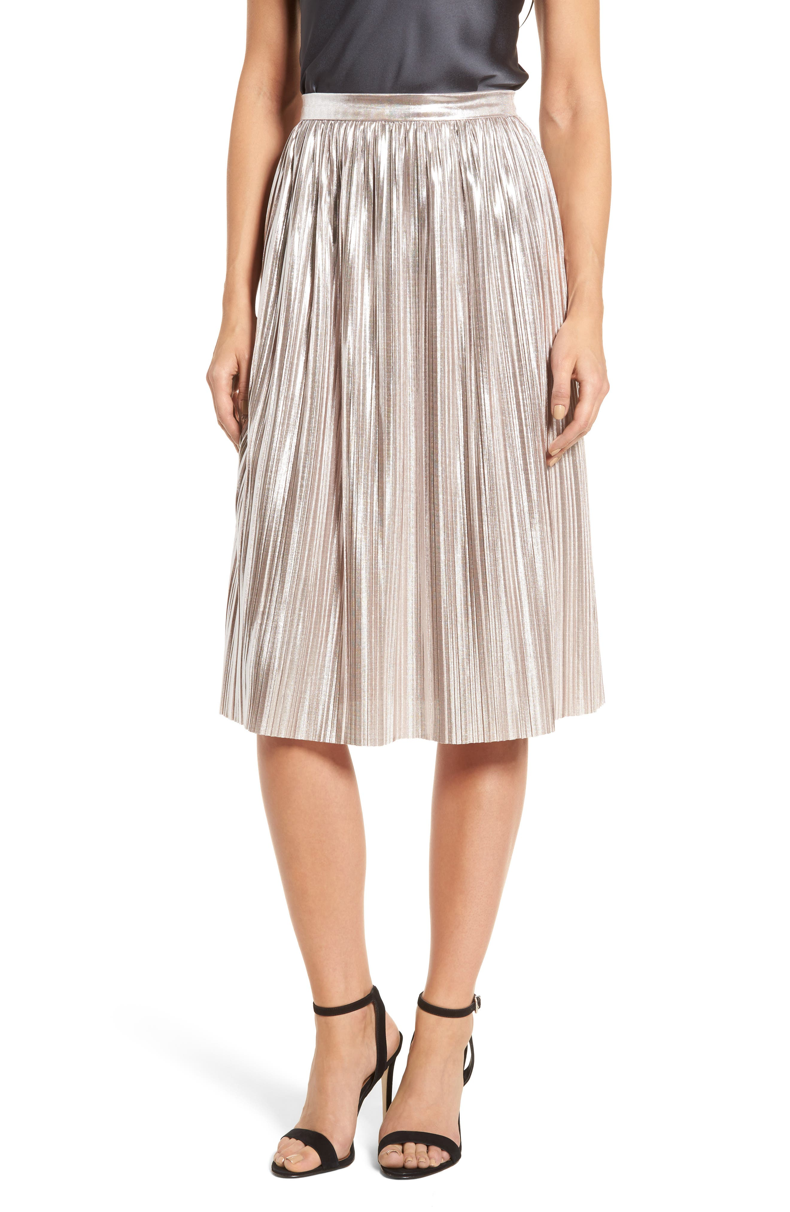 Morgan Pleat Skirt,                         Main,                         color, Lilas