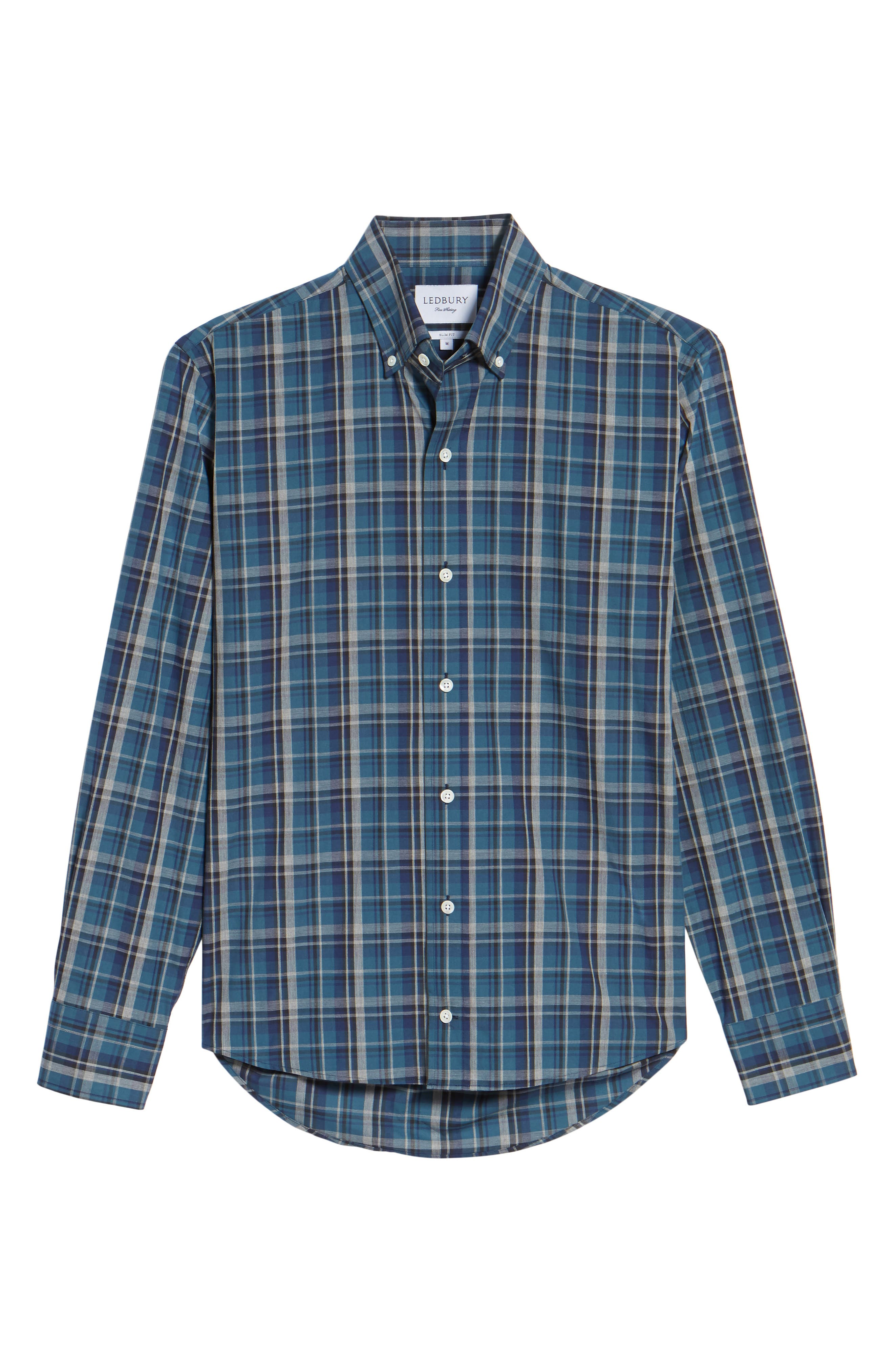 Alternate Image 6  - Ledbury Slim Fit Plaid Sport Shirt