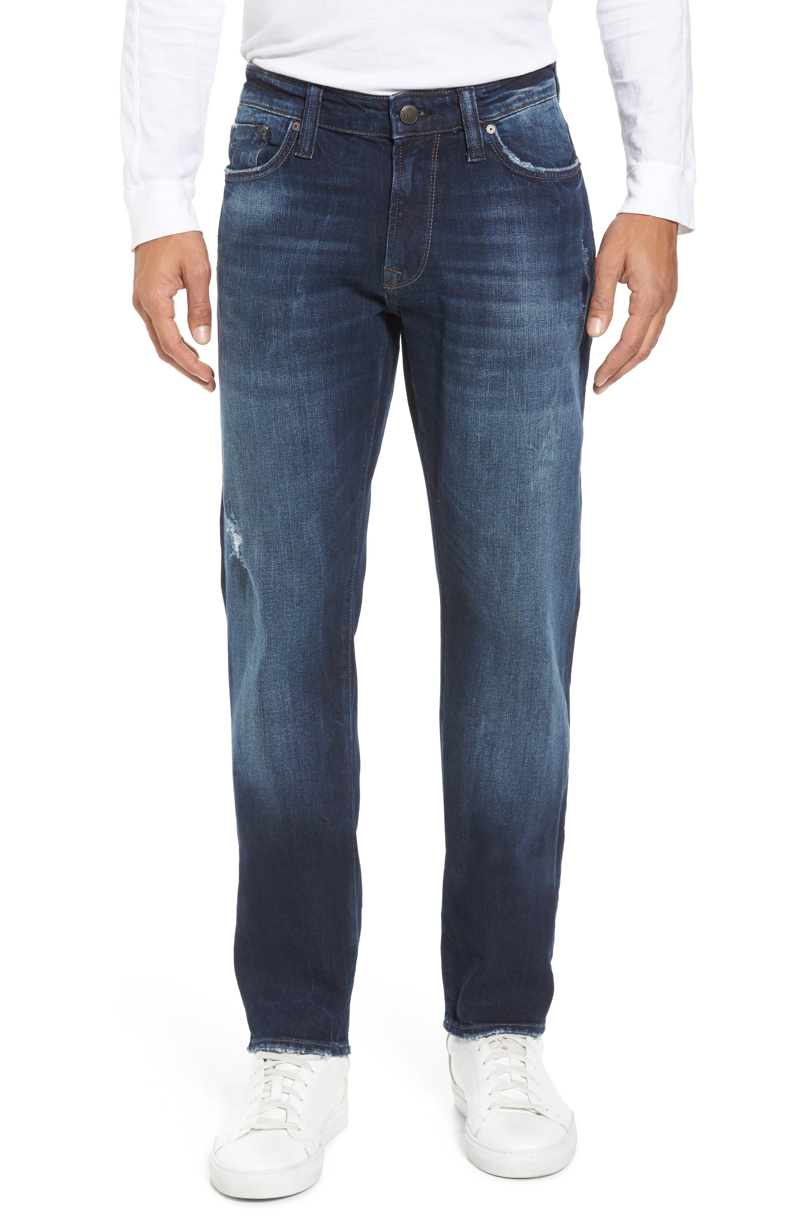 Alternate Image 1 Selected - Mavi Jeans Marcus Slim Straight Leg Jeans (Deep Authentic Vintage)