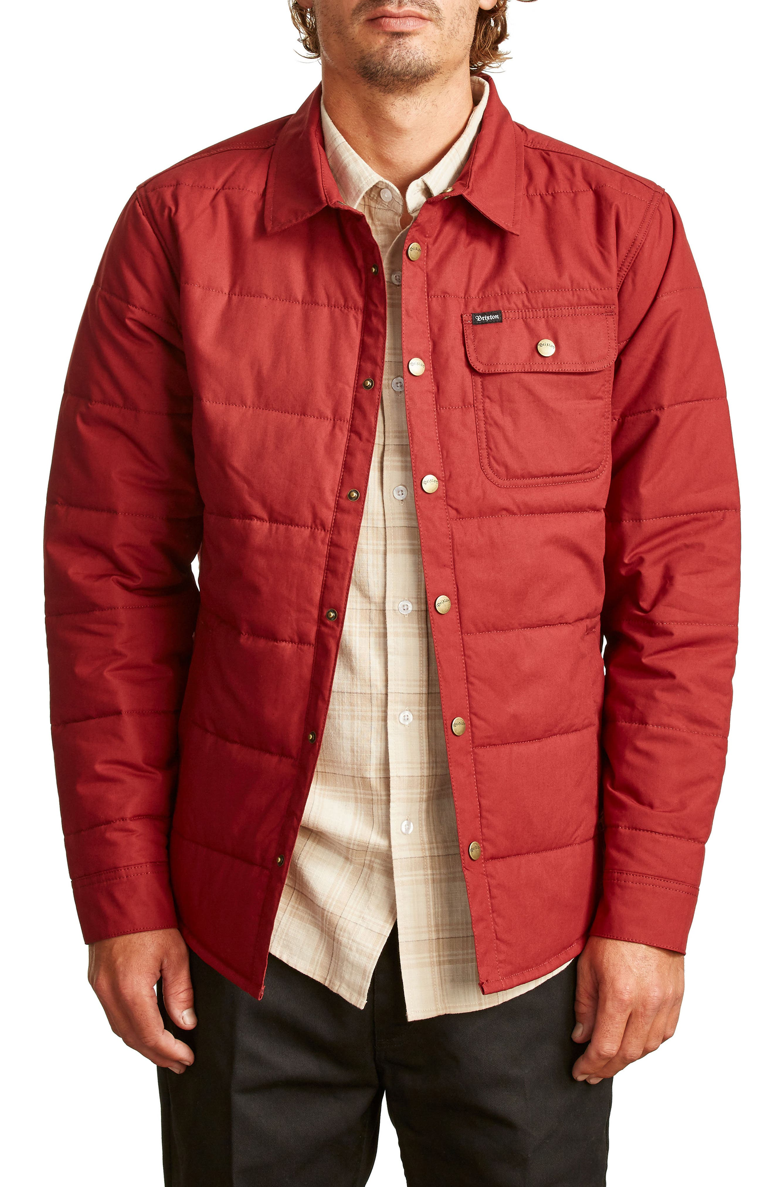 'Cass' Quilted Jacket,                         Main,                         color, Burgundy