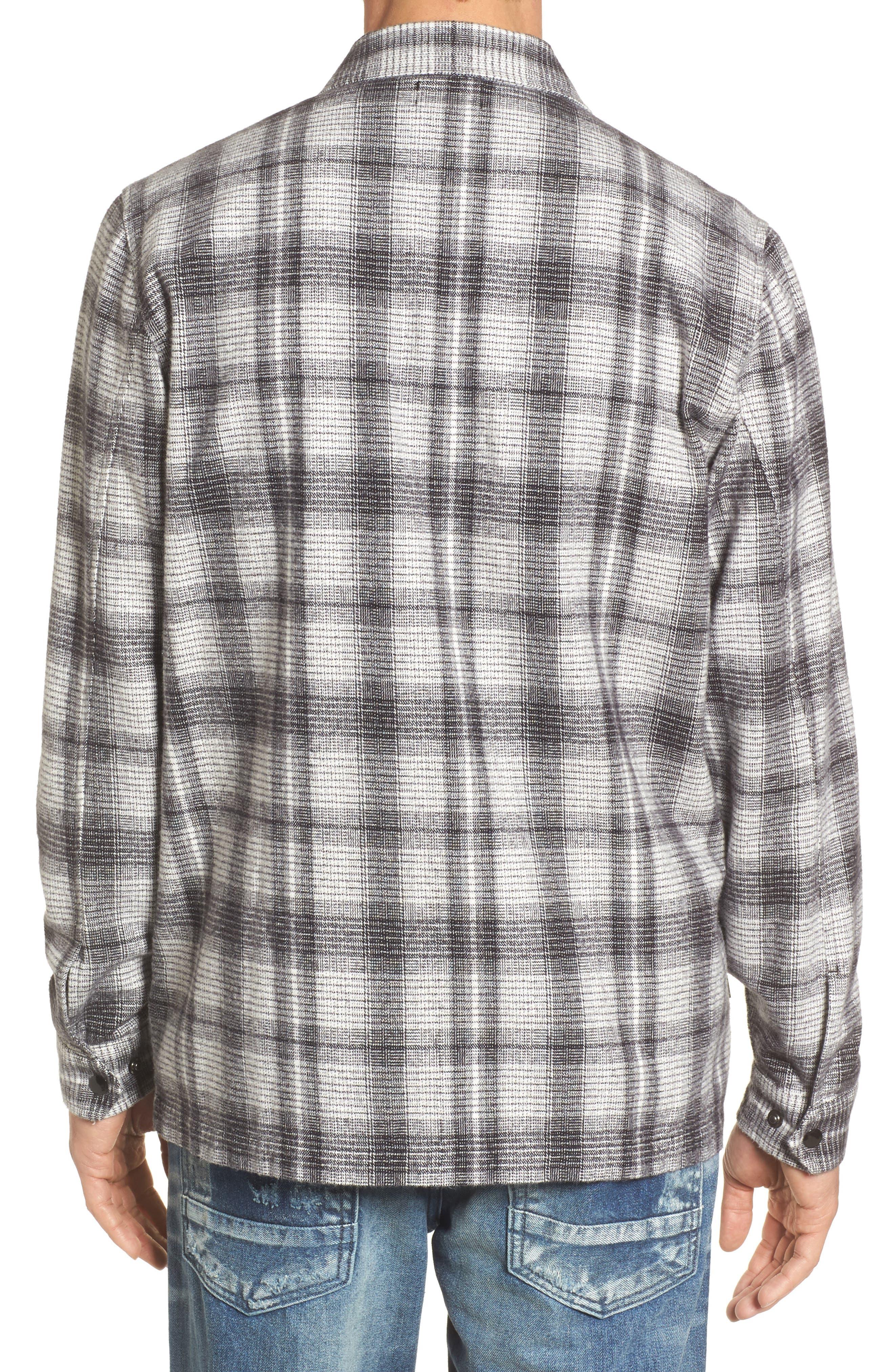 Whittier Plaid Flannel Shirt Jacket,                             Alternate thumbnail 2, color,                             Neutral Grey Multi