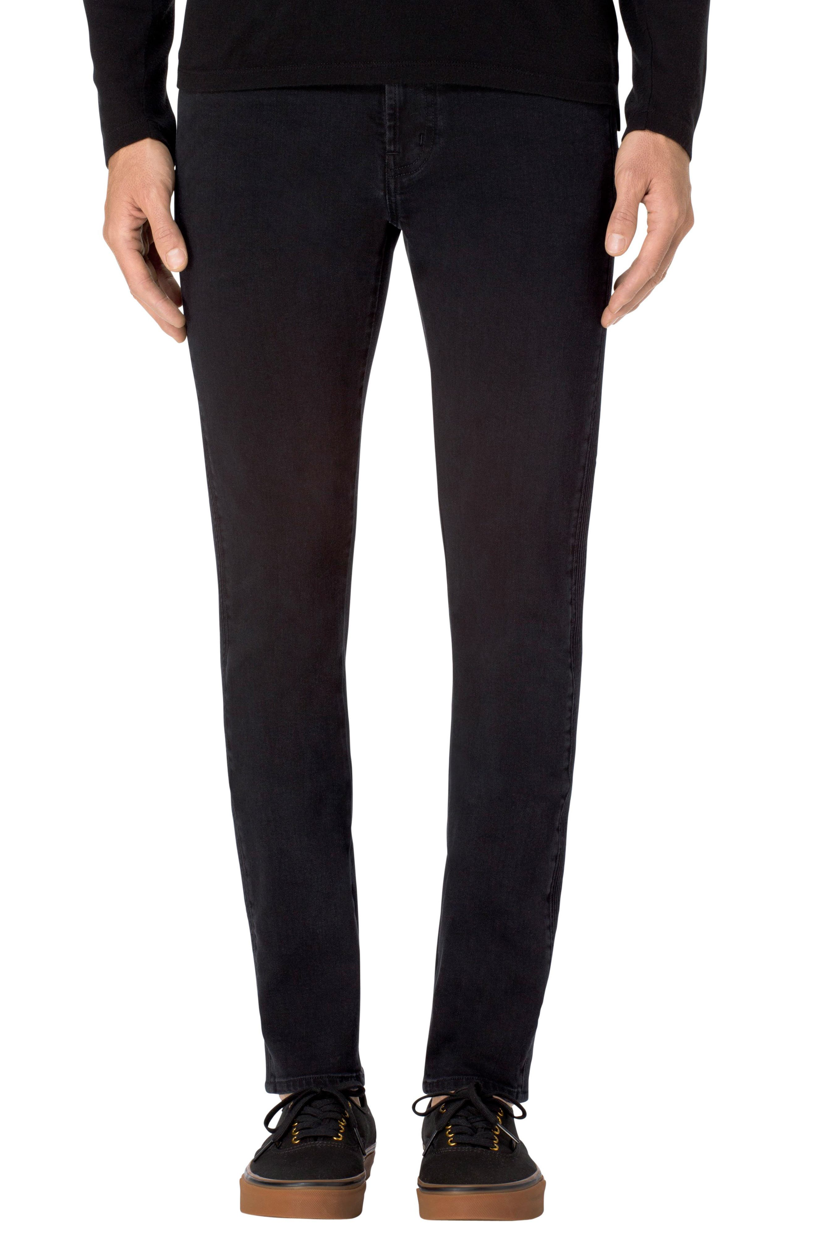 Alternate Image 1 Selected - J Brand Parallax Moto Skinny Fit Jeans (Hype)