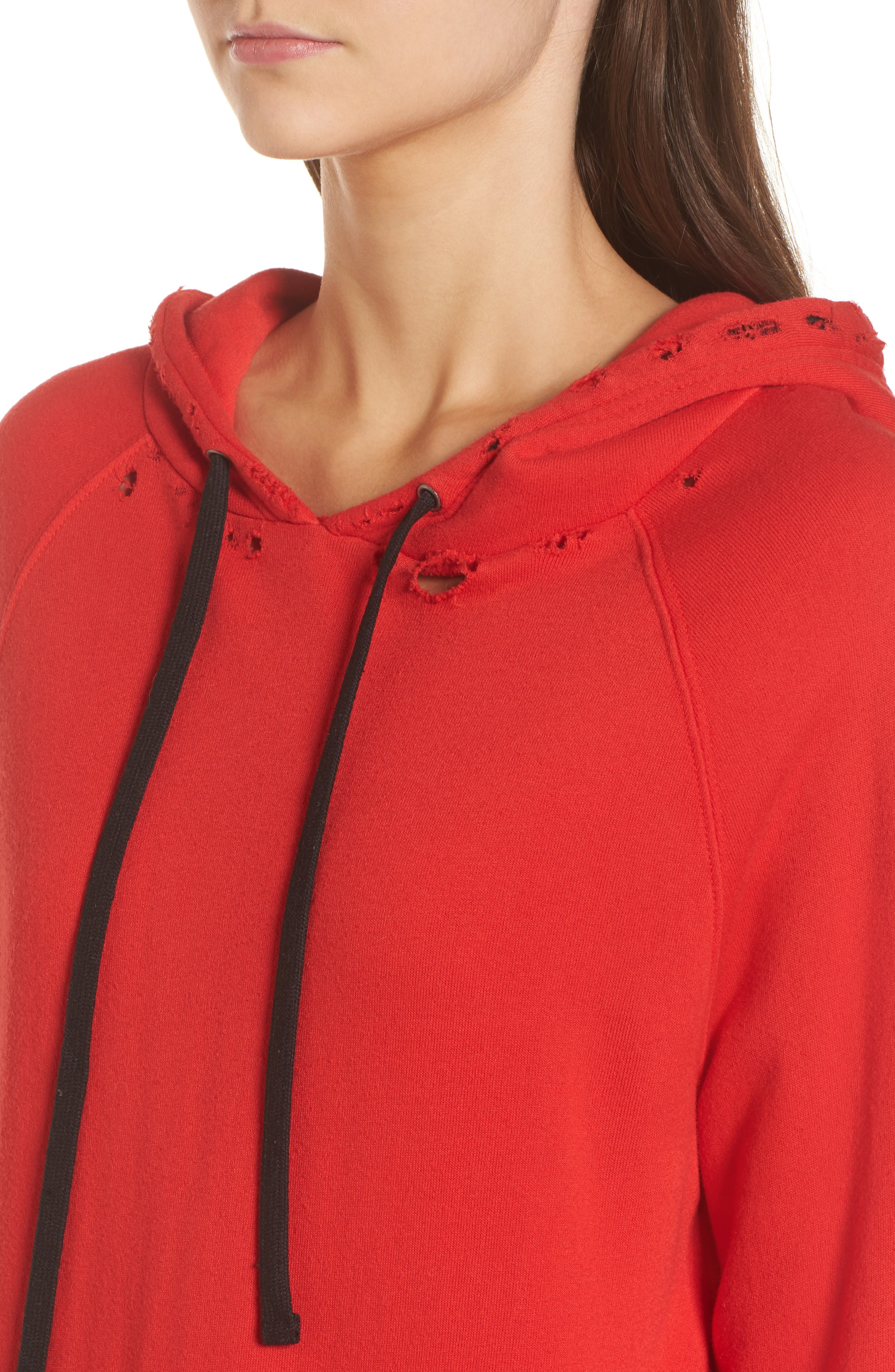 Hollywood Tipped Hoodie,                             Alternate thumbnail 4, color,                             Formula 1 Red