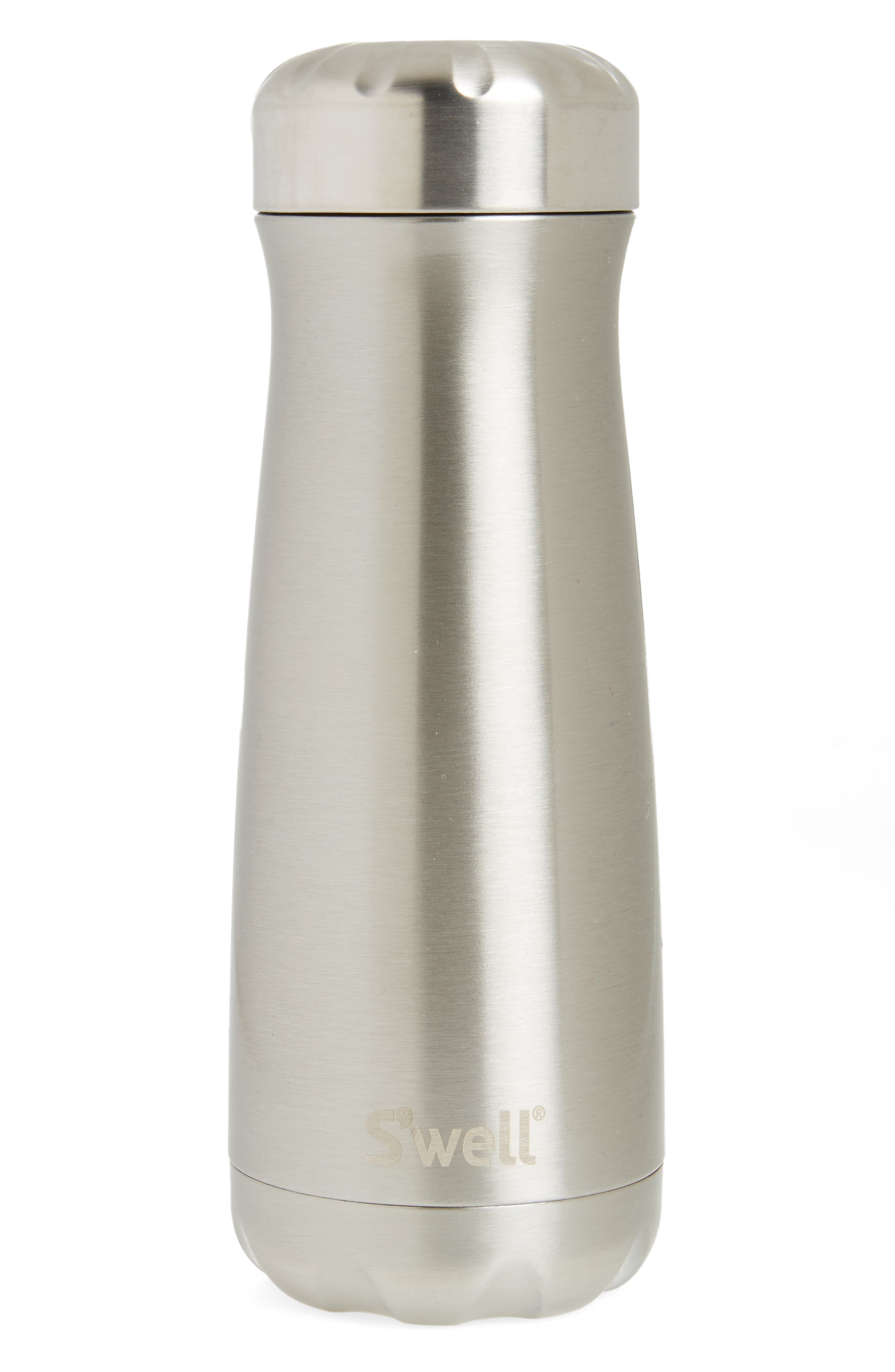 Silver Lining 20-Ounce Insulated Traveler Bottle,                             Main thumbnail 1, color,                             Silver Lining