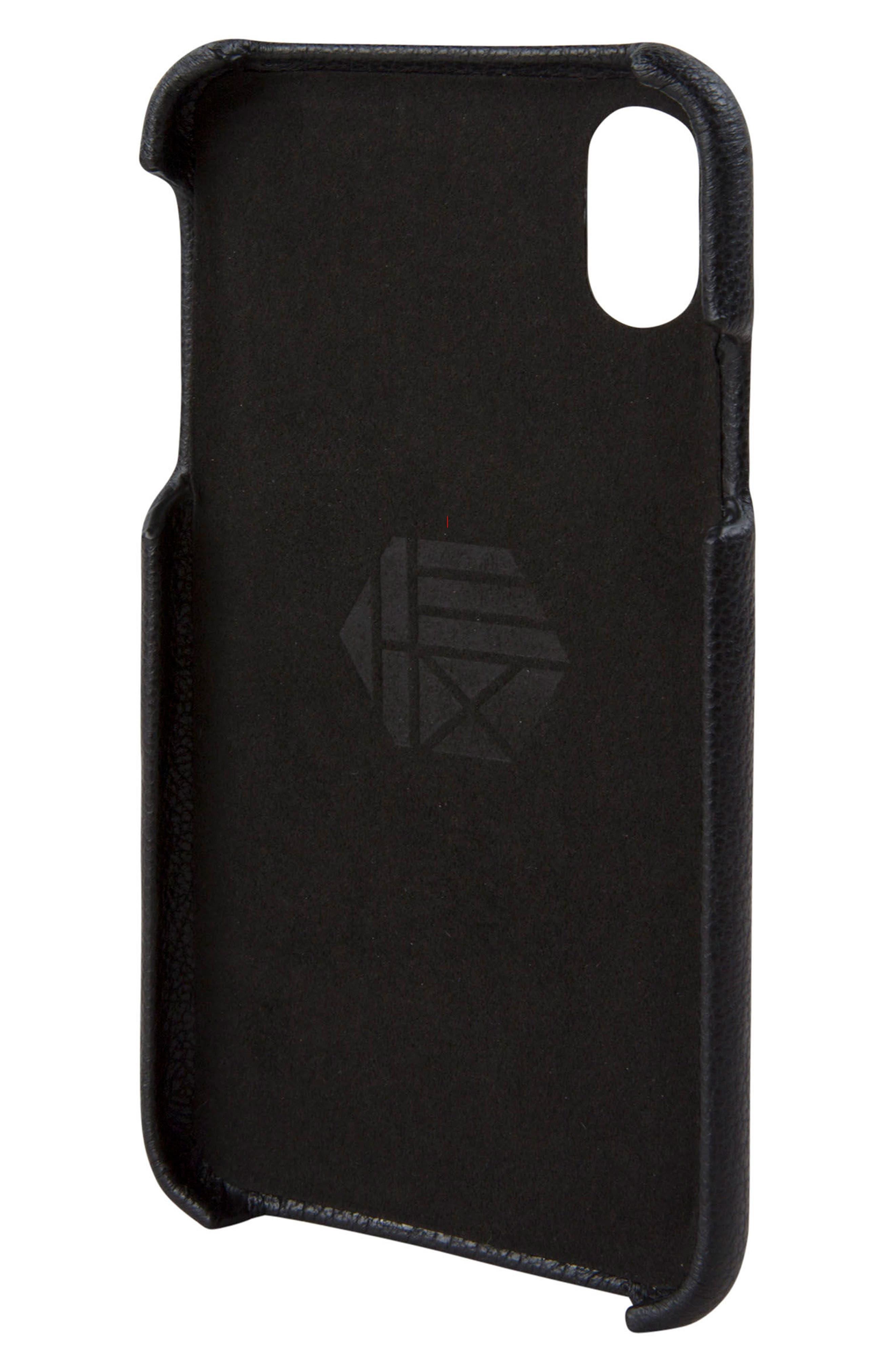Solo iPhone X Wallet Case,                             Alternate thumbnail 2, color,                             Black
